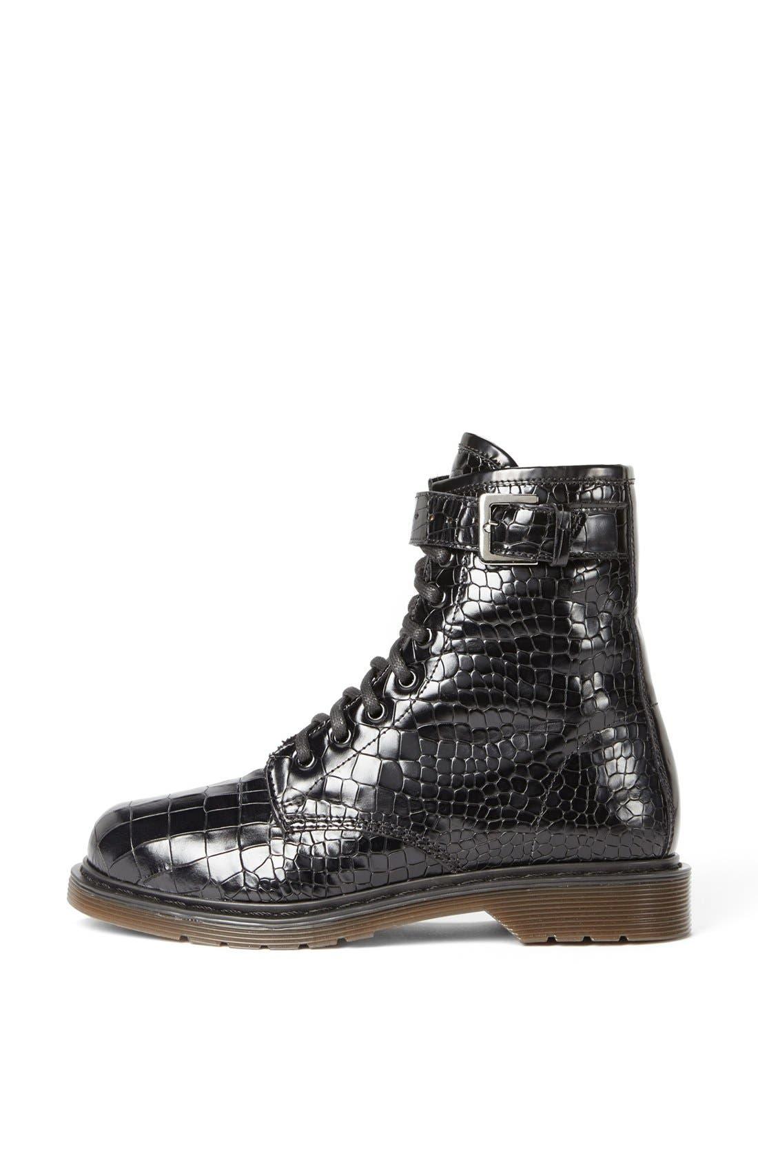 Alternate Image 4  - Kurt Geiger London 'Steell' Croc Embossed Leather Boot