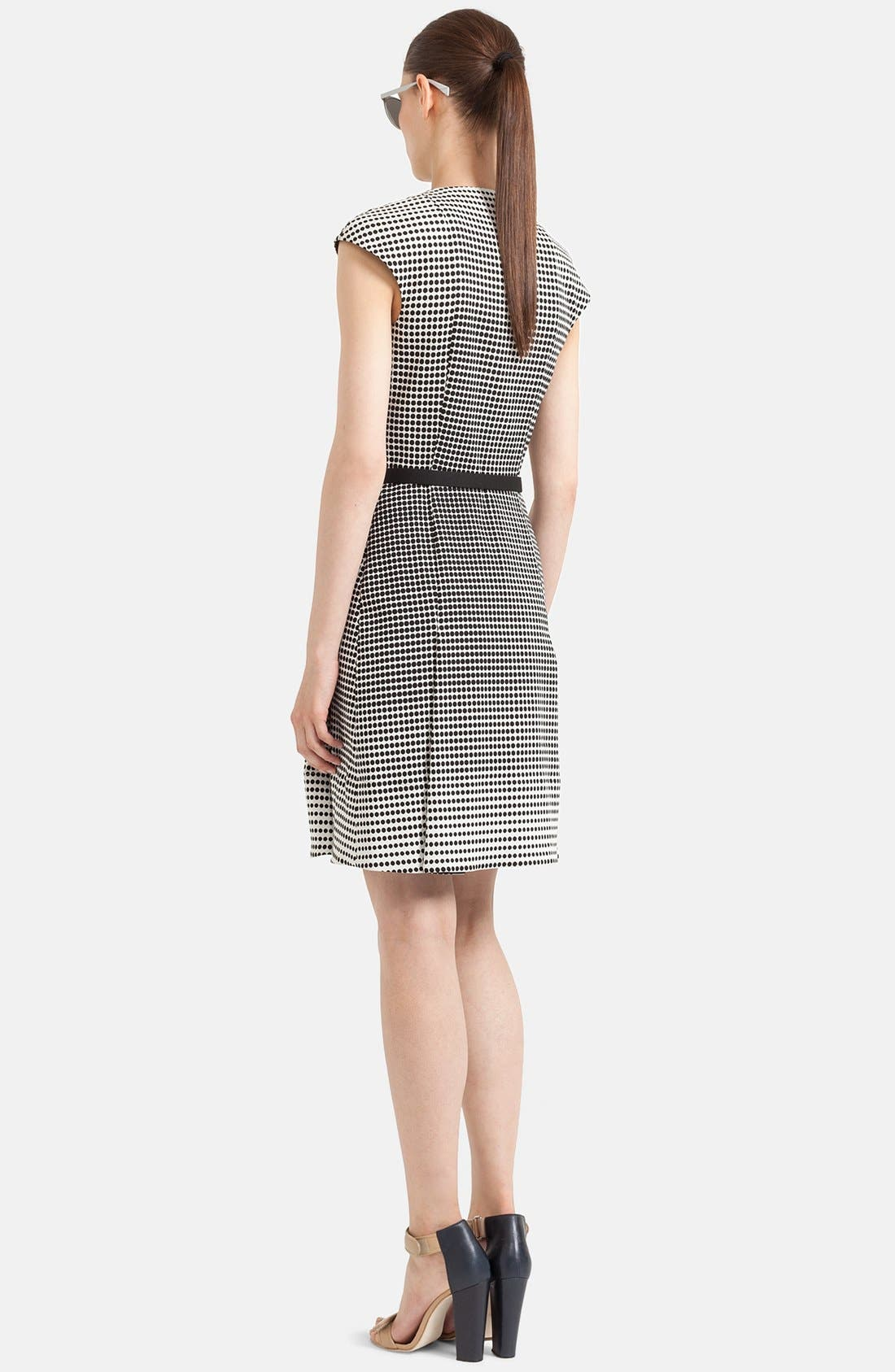 Alternate Image 2  - Akris punto Print Stretch Cotton Flared Dress