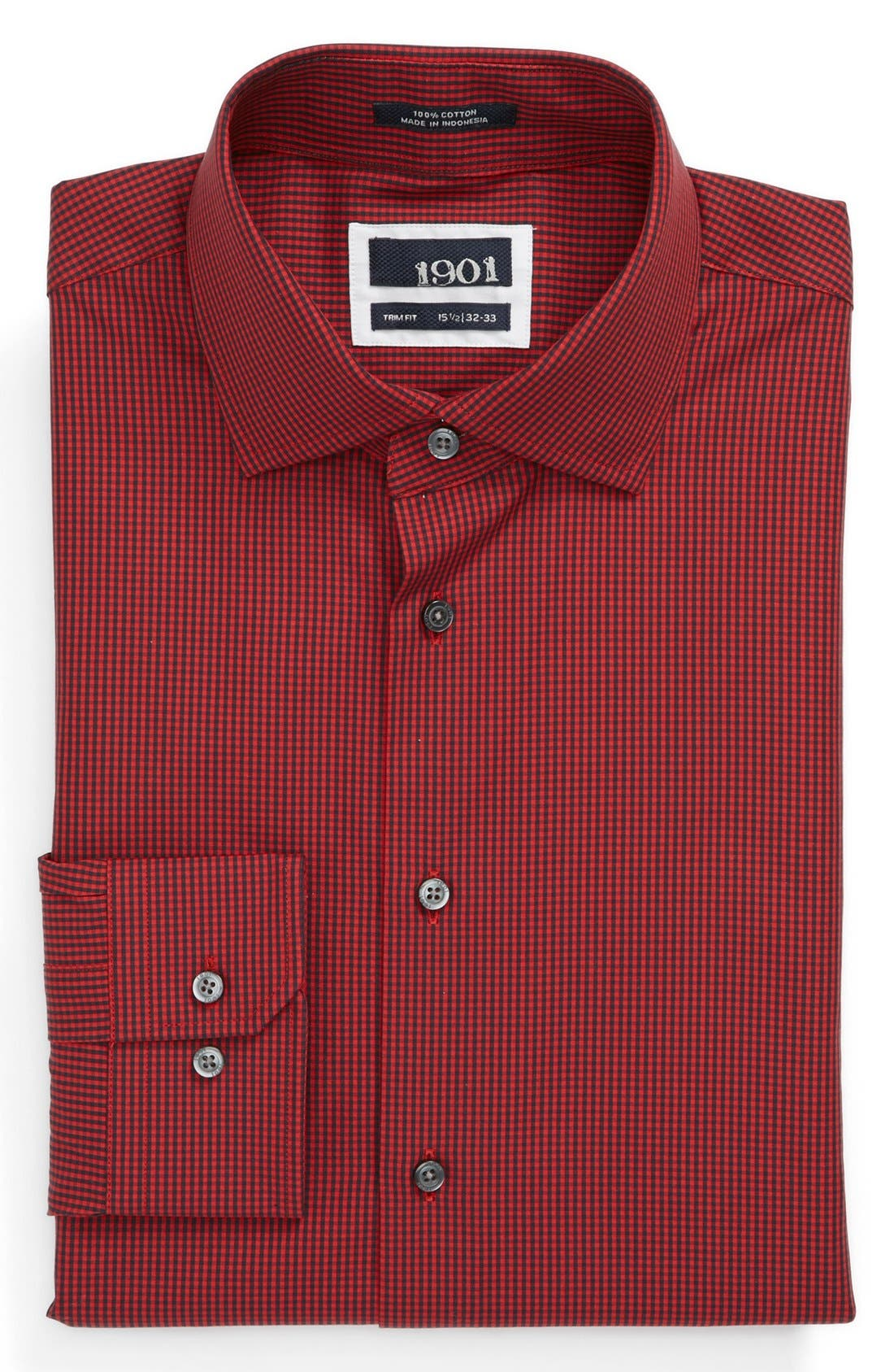 Alternate Image 1 Selected - 1901 Trim Fit Check Dress Shirt