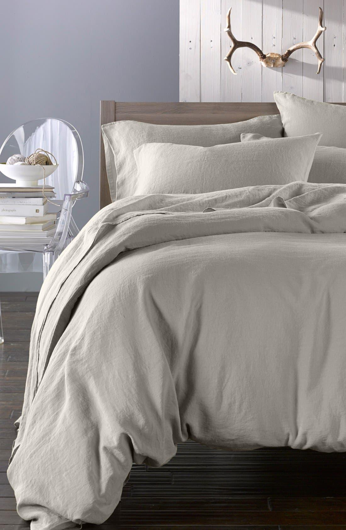 Main Image - Merci Washed Linen Bedding Set