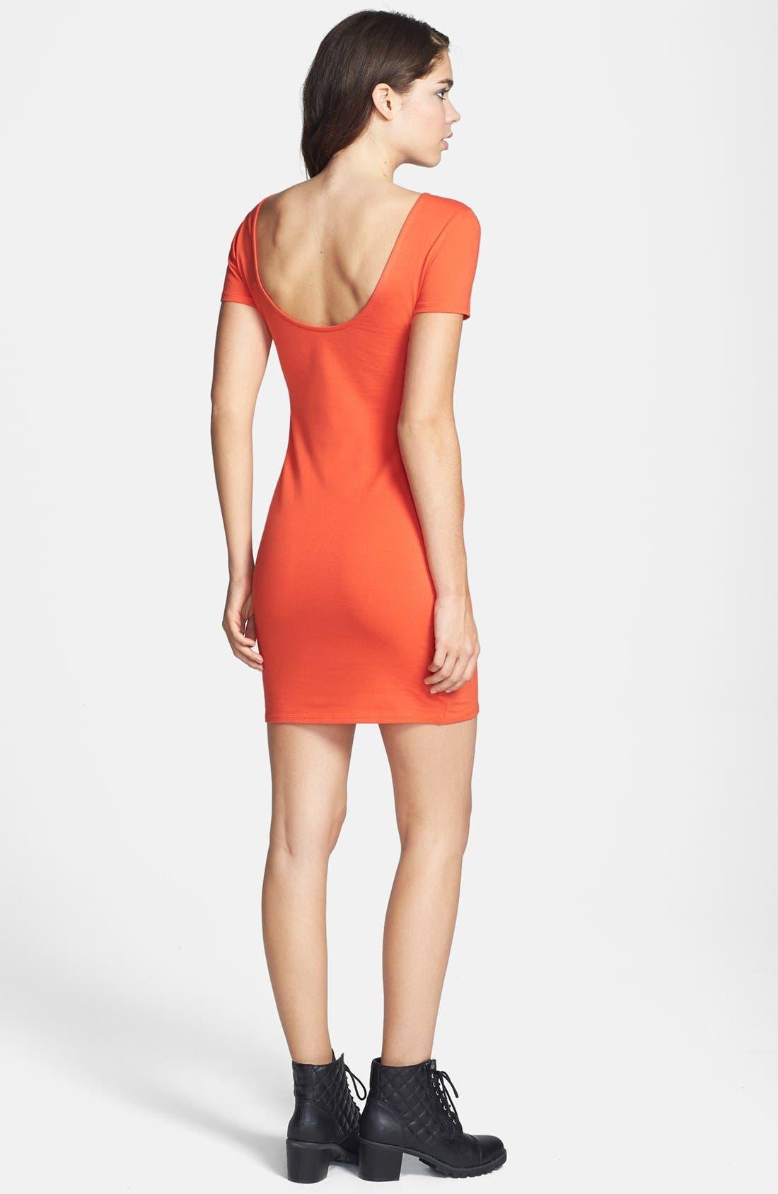 Alternate Image 2  - Wayf Scoop Back Body-Con Dress