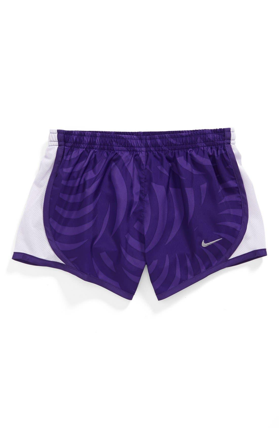 Alternate Image 1 Selected - Nike 'Tempo' Running Shorts (Little Girls & Big Girls)
