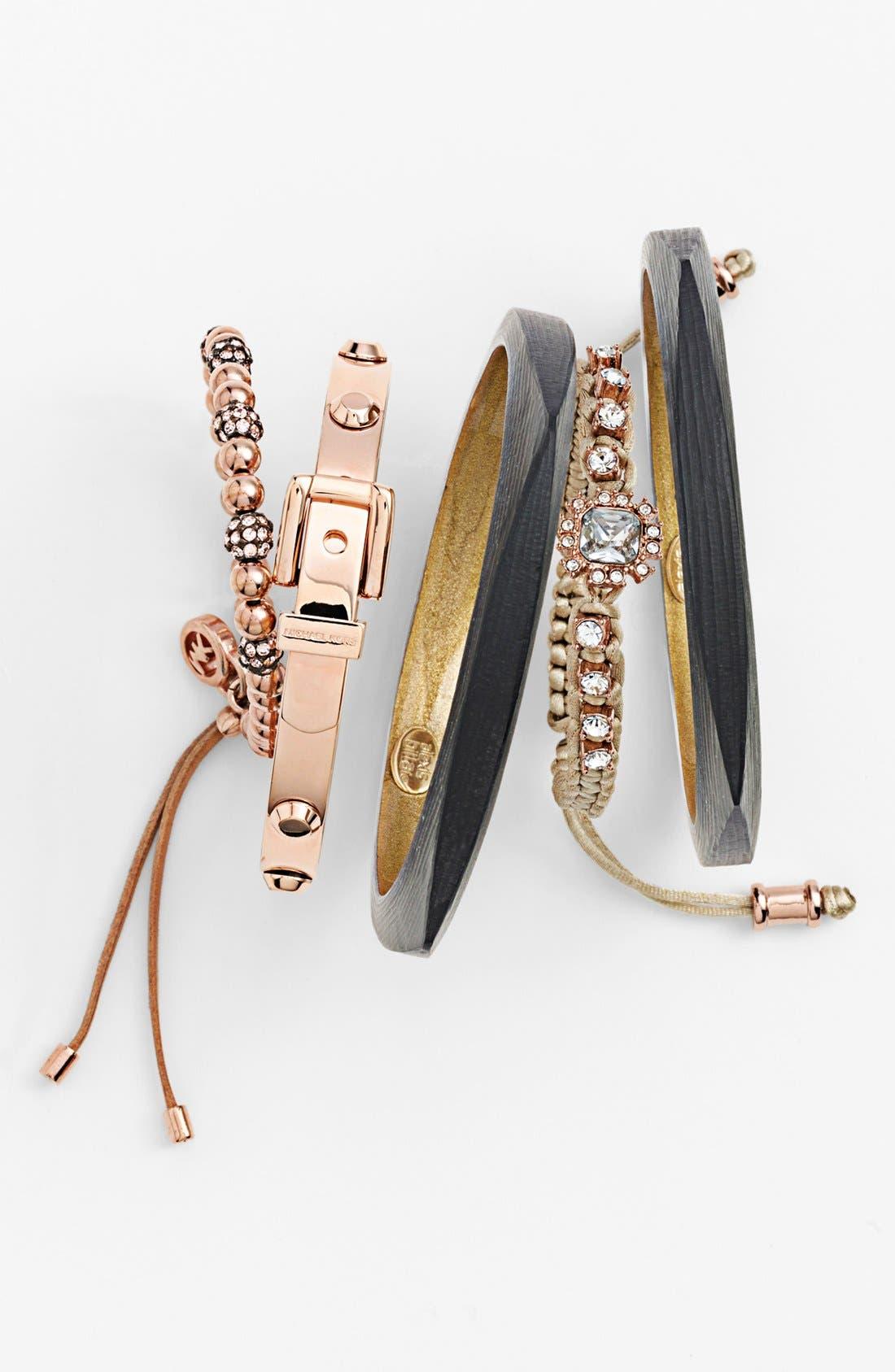 Alternate Image 3  - Michael Kors Bead & Crystal Stretch Bracelet