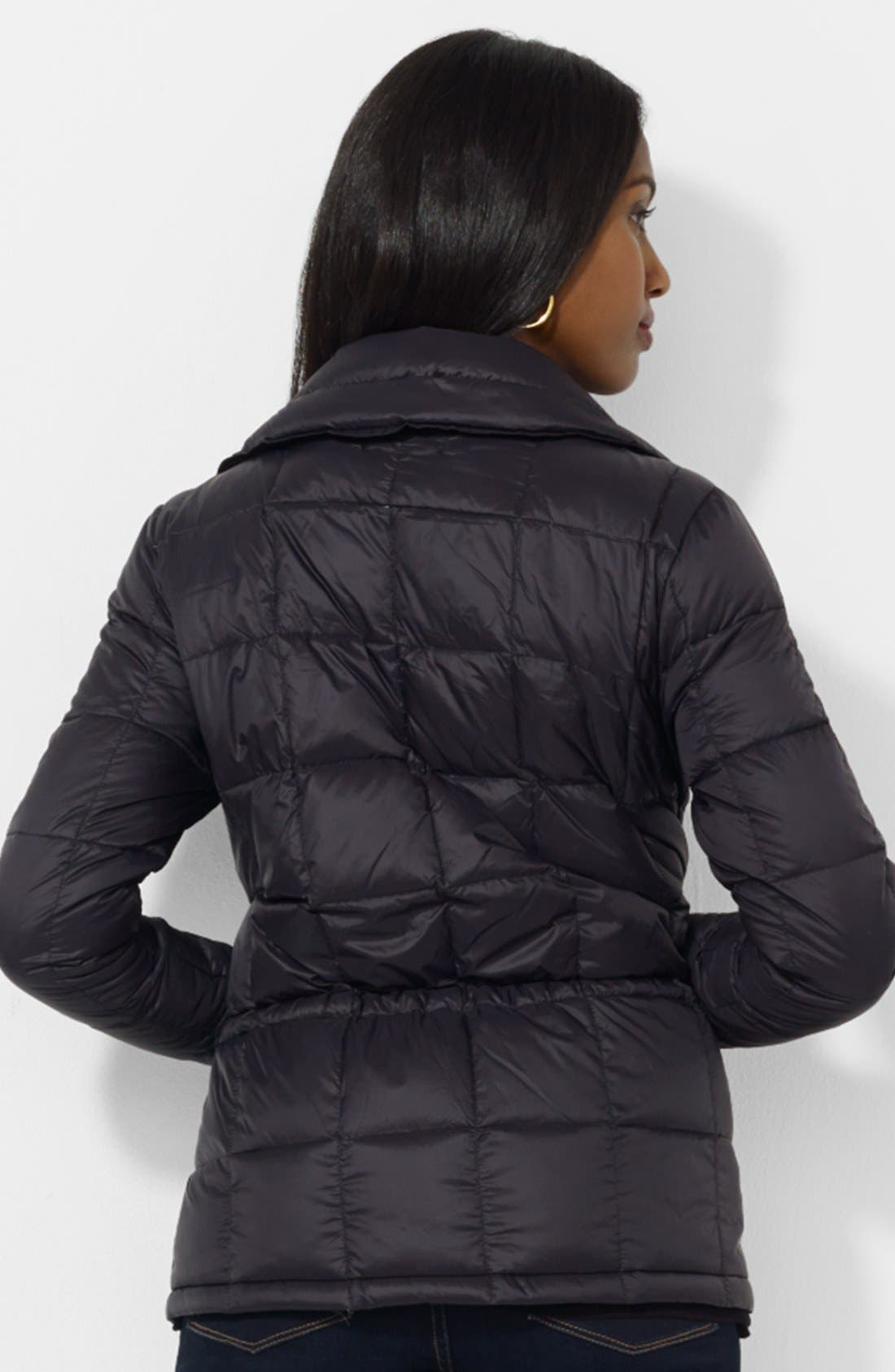 Alternate Image 2  - Lauren Ralph Lauren Box Quilted Down Jacket (Petite)