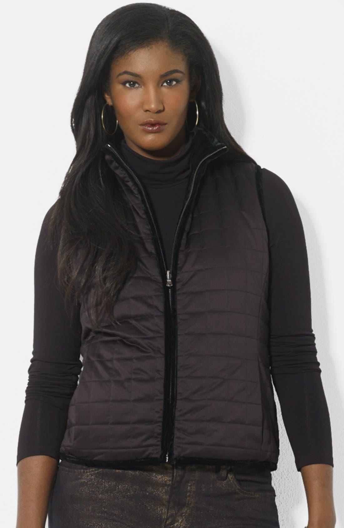 Alternate Image 1 Selected - Lauren Ralph Lauren Reversible Quilted Vest (Petite)