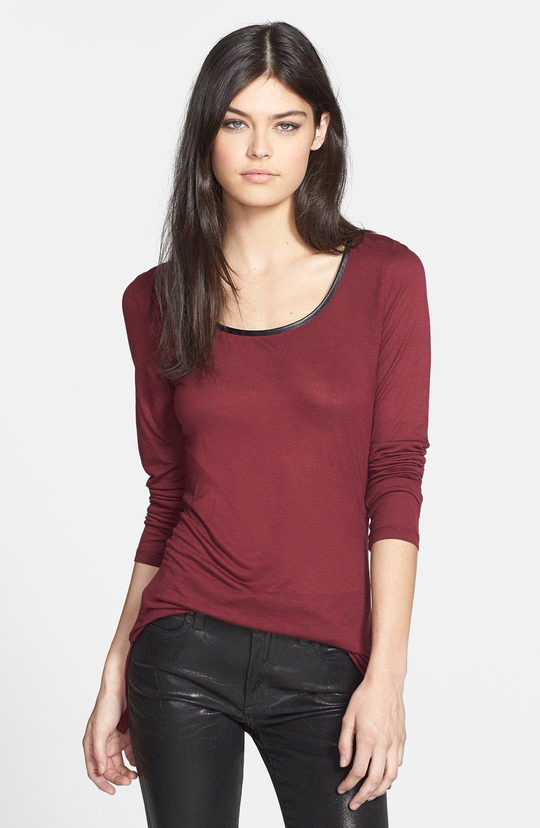 Alternate Image 1 Selected - Trouvé Colorblock Long Sleeve Tee
