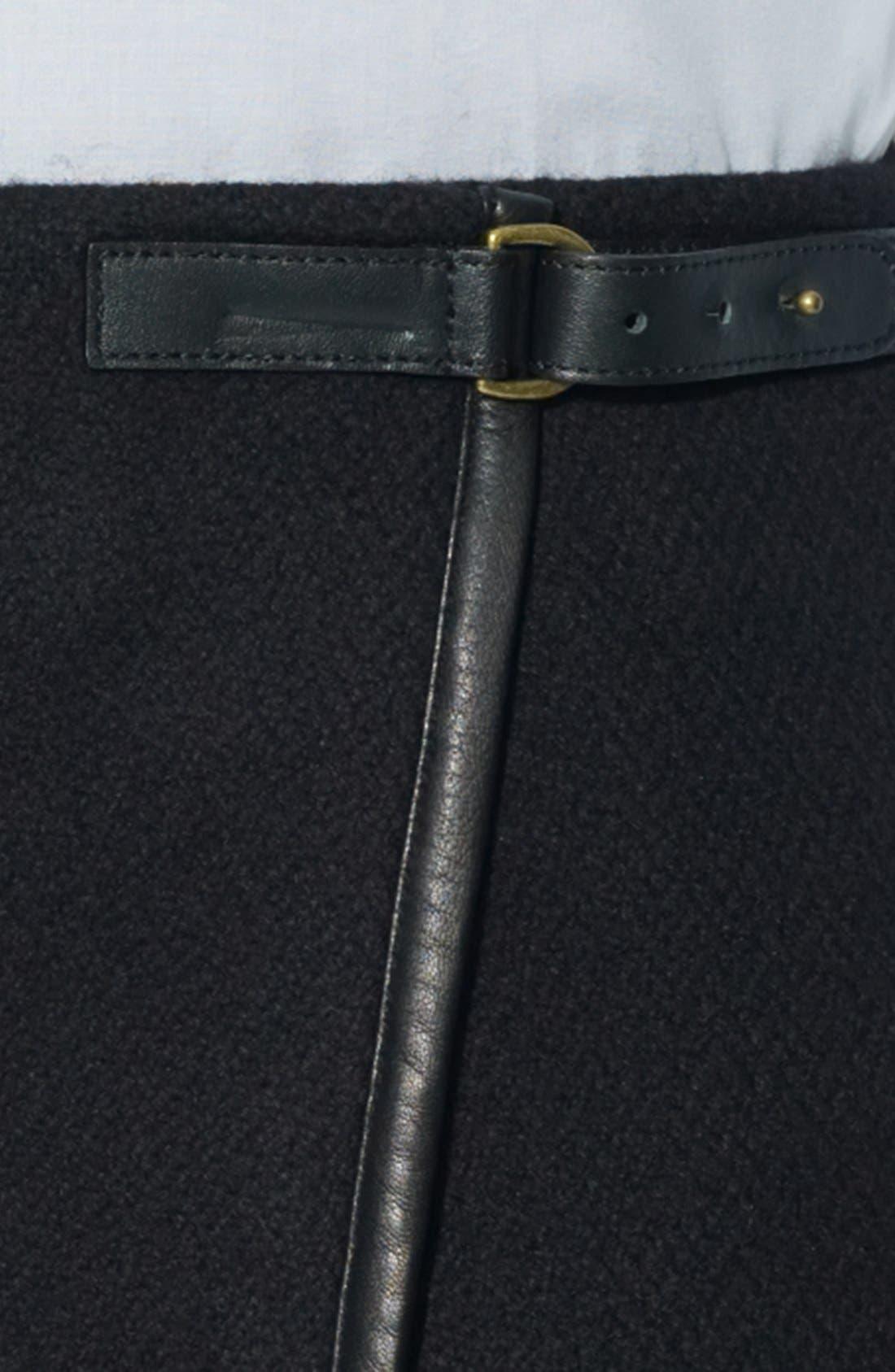 Alternate Image 3  - Lauren Ralph Lauren Leather Trim Pencil Skirt (Petite)