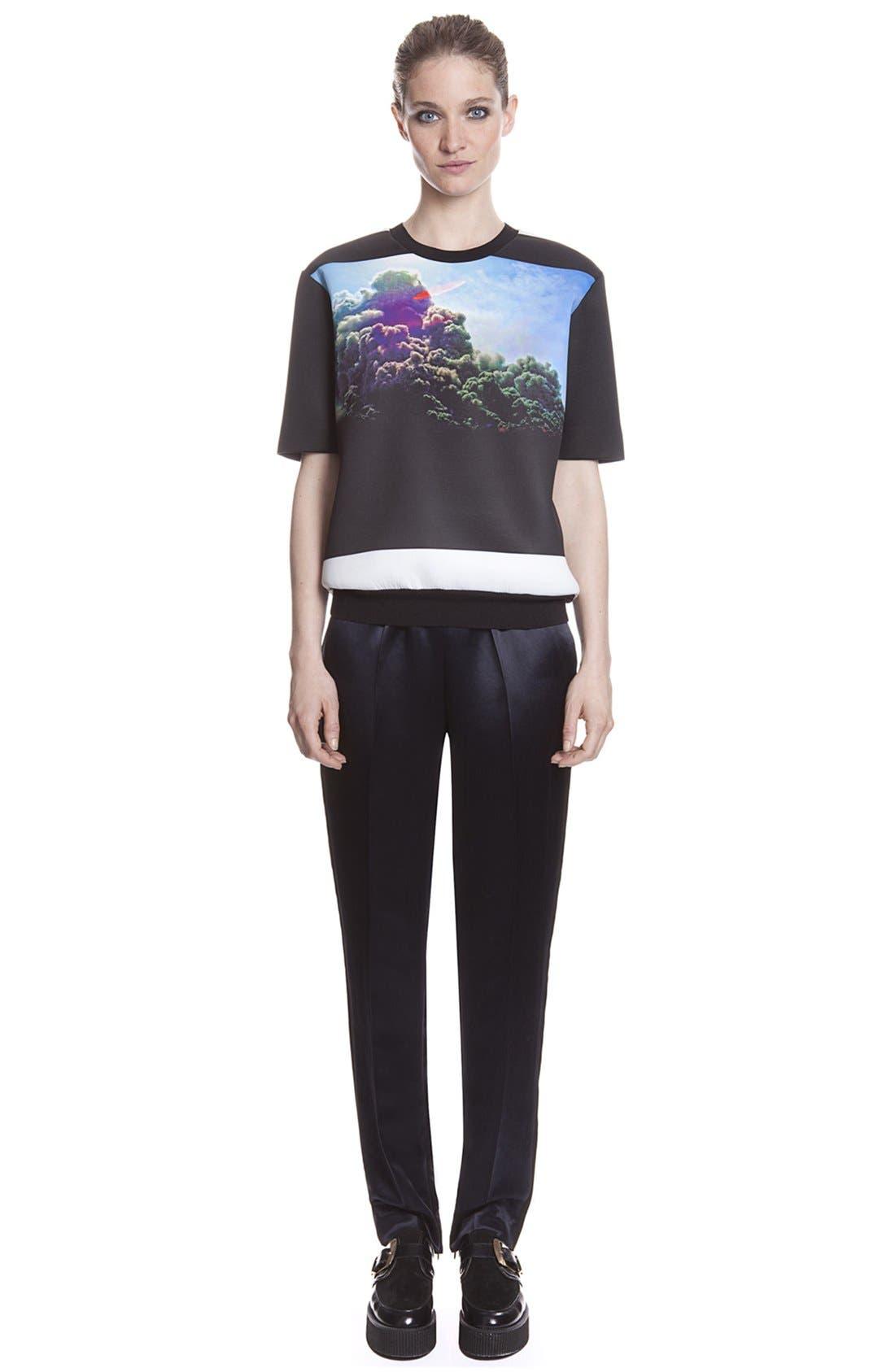 Alternate Image 1 Selected - sandro 'Pirouette' Tuxedo Stripe Satin Pants