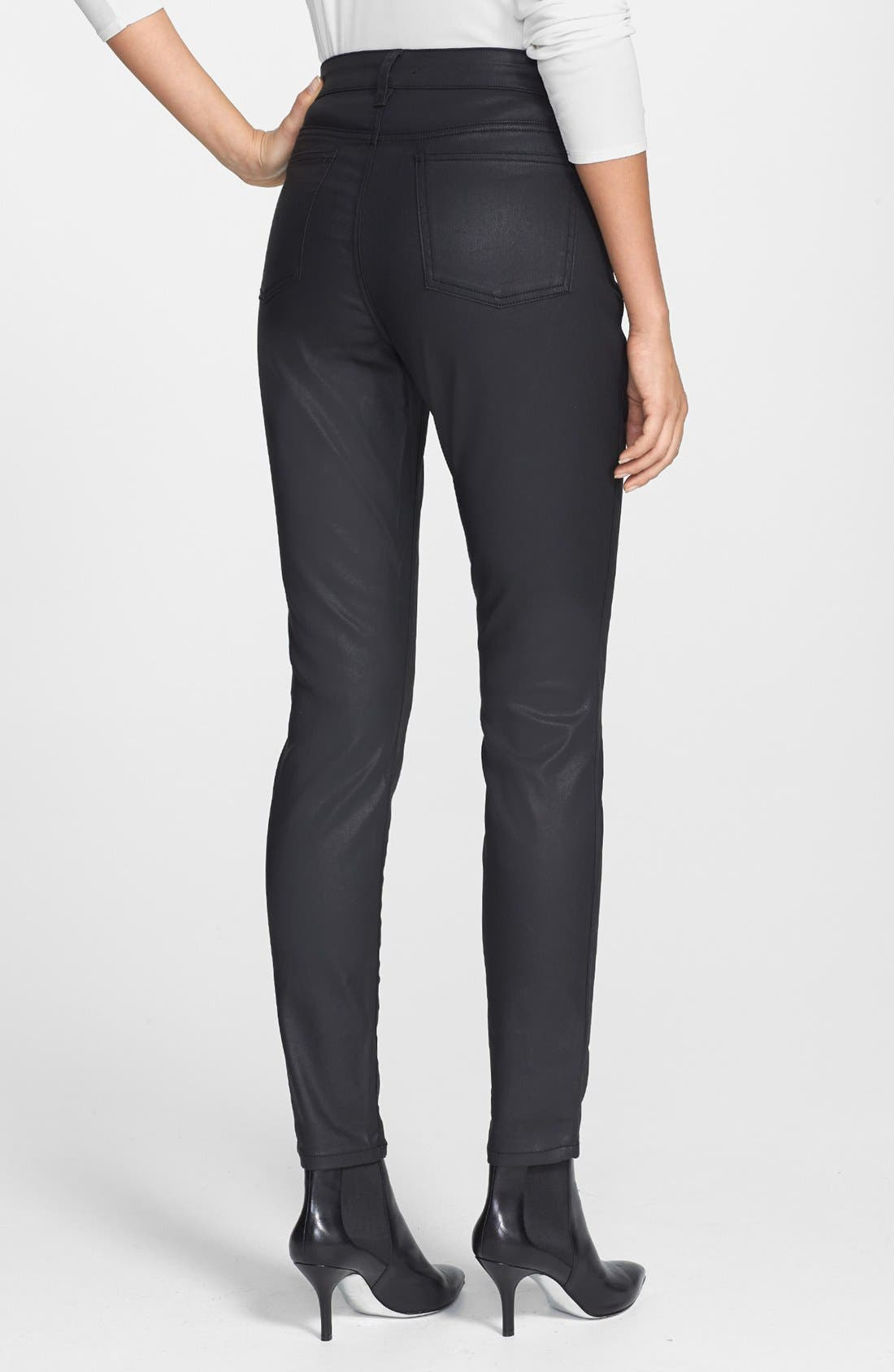 Alternate Image 2  - Eileen Fisher Ankle Skinny Jeans (Black) (Petite)