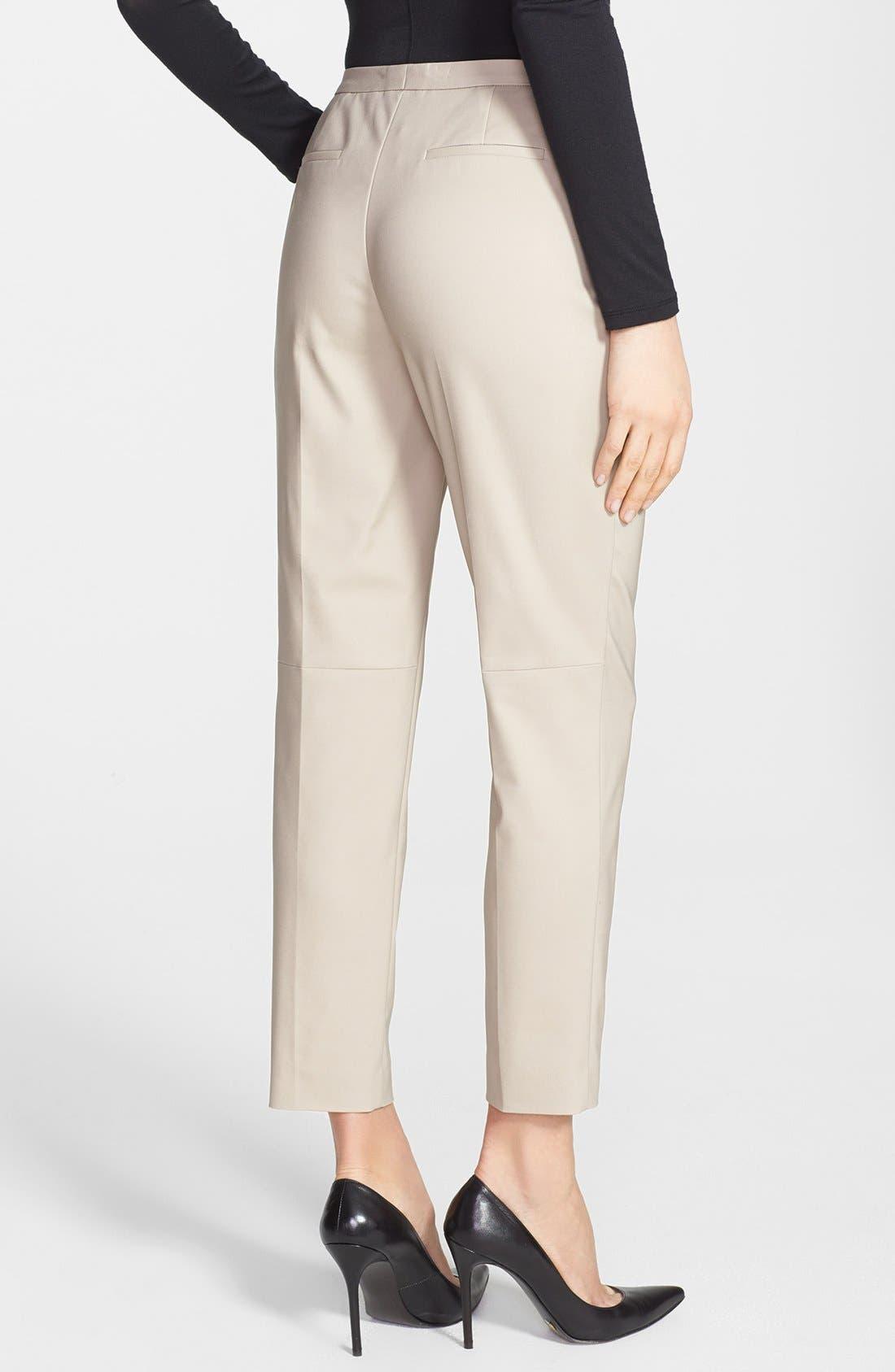 Alternate Image 2  - Halogen® 'Taylor' Stretch Cotton Blend Crop Pants