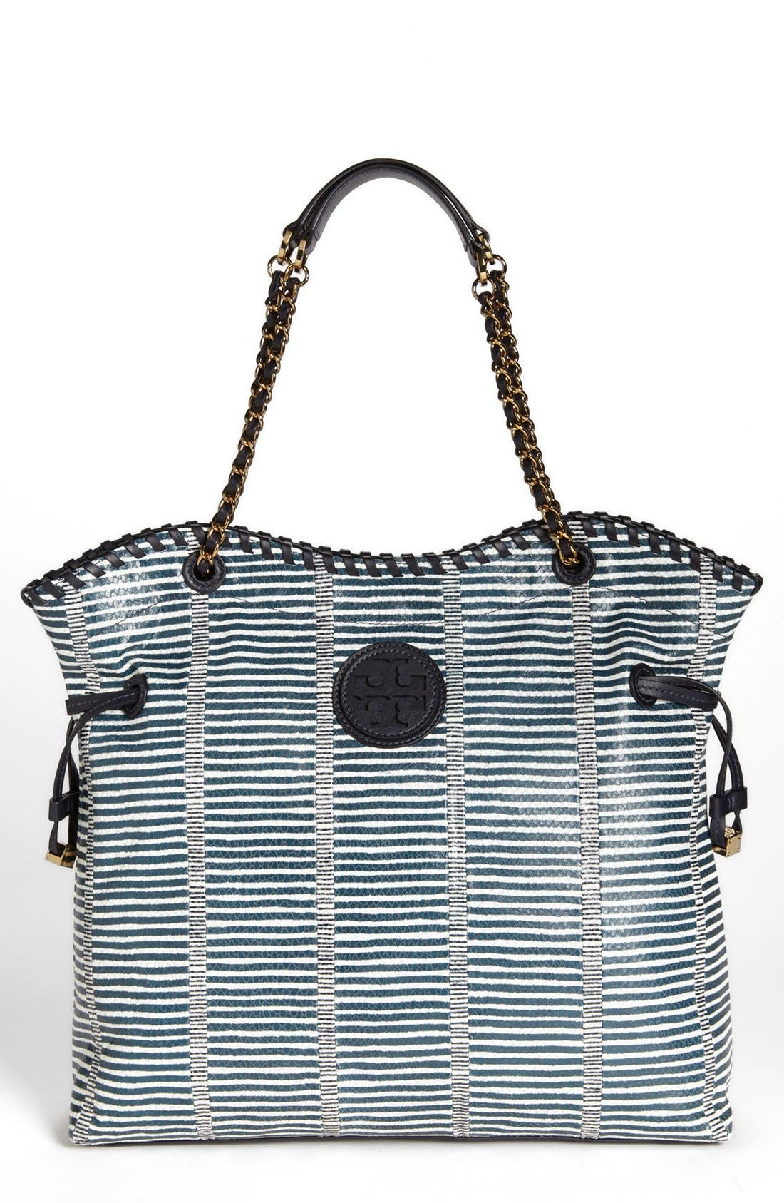 Alternate Image 1 Selected - Tory Burch 'Marion Patchwork' Leather Tote