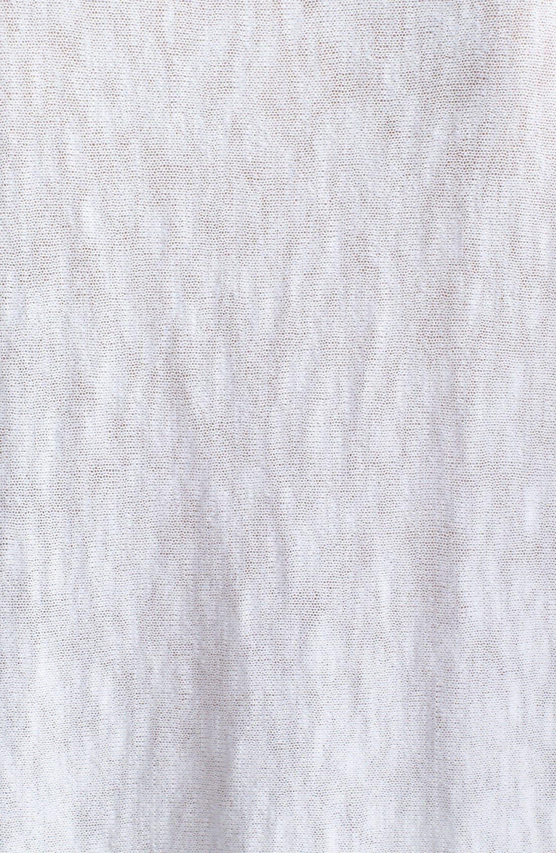 Alternate Image 3  - Vince Contrast Trim V-Neck Slub Sweater