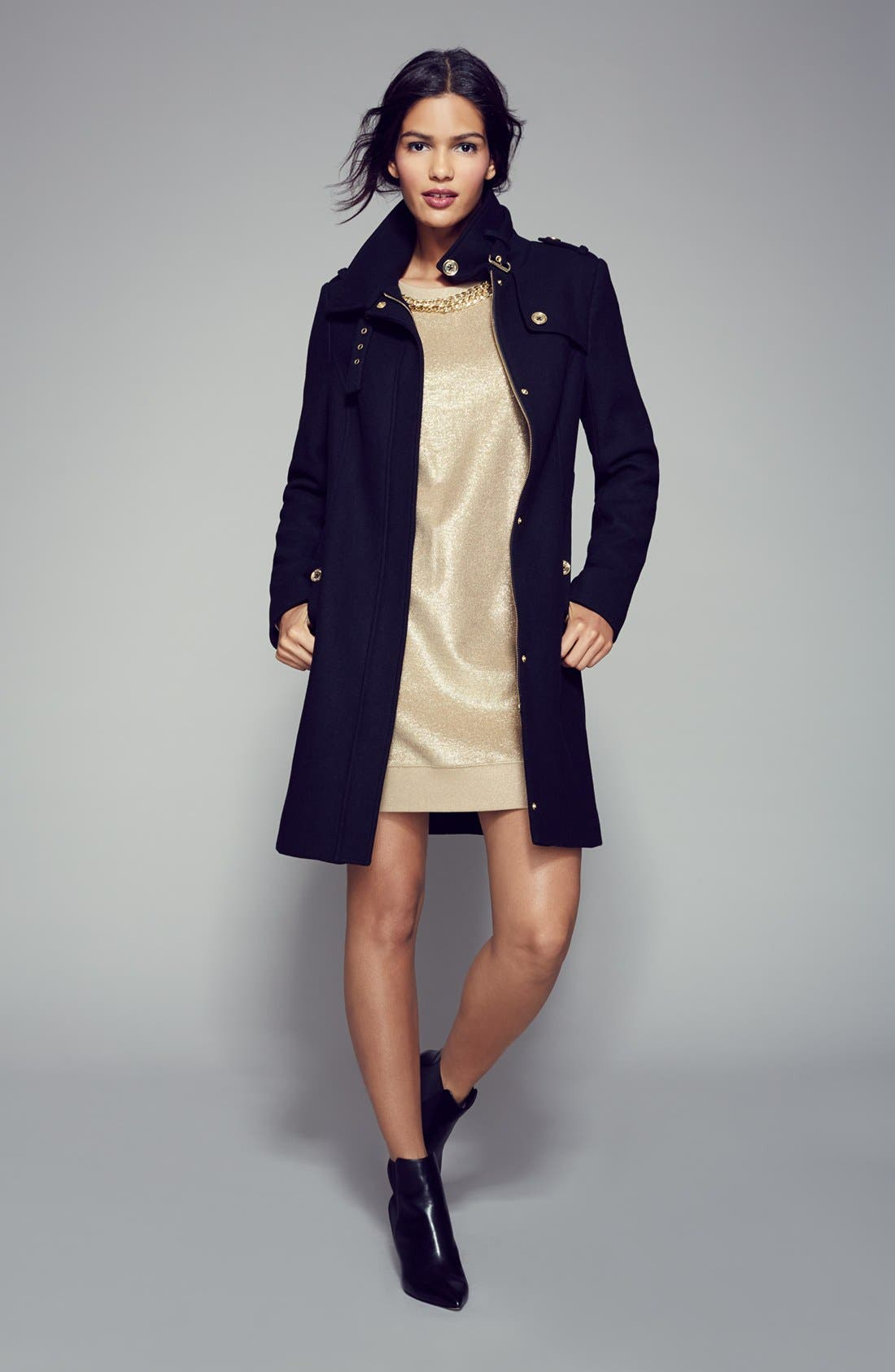 Alternate Image 3  - MICHAEL Michael Kors Wool Blend Military Trench Coat (Nordstrom Exclusive)