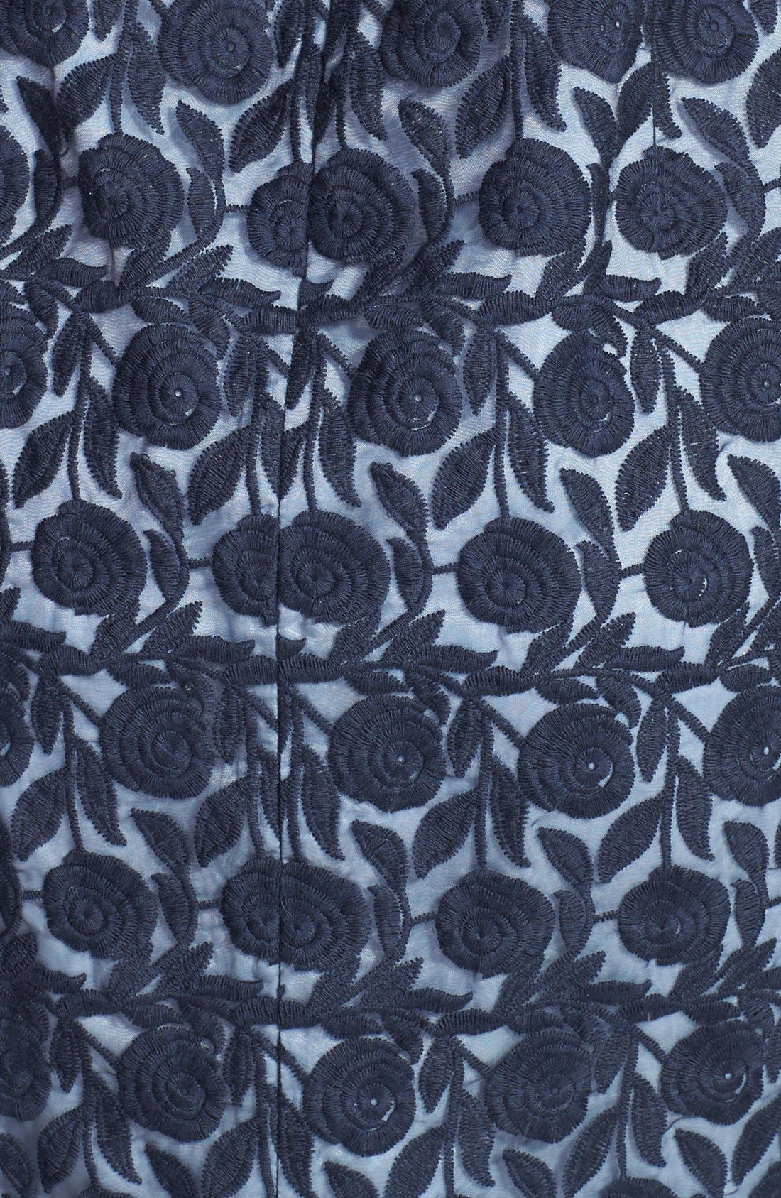 Alternate Image 3  - Maggy London Organza Belted Sheath Dress (Regular & Petite)