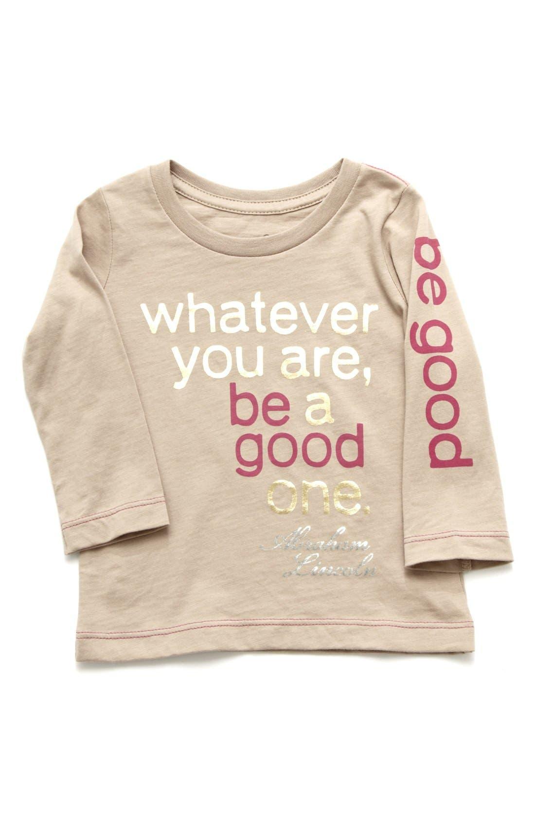 Alternate Image 1 Selected - Peek 'Be Good' Tee (Toddler Girls, Little Girls & Big Girls)
