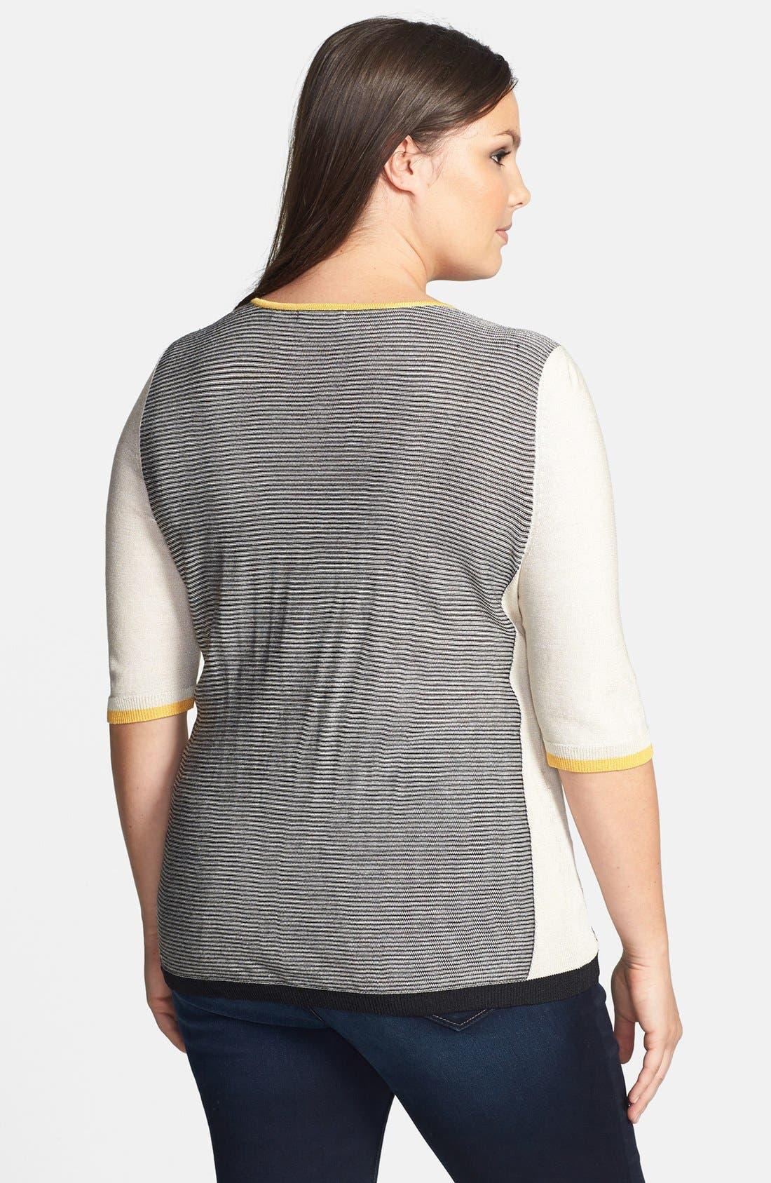 Alternate Image 2  - NIC+ZOE 'Ombréd Angles' Silk Blend Top (Plus Size)