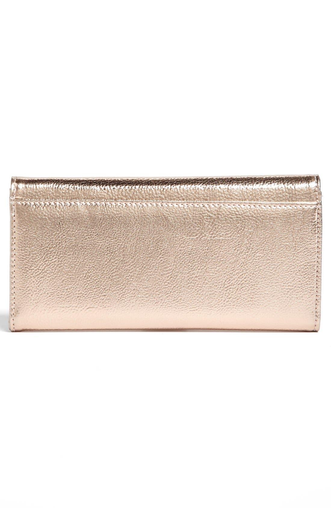 Alternate Image 3  - Ivanka Trump 'Blair' Metallic Wallet