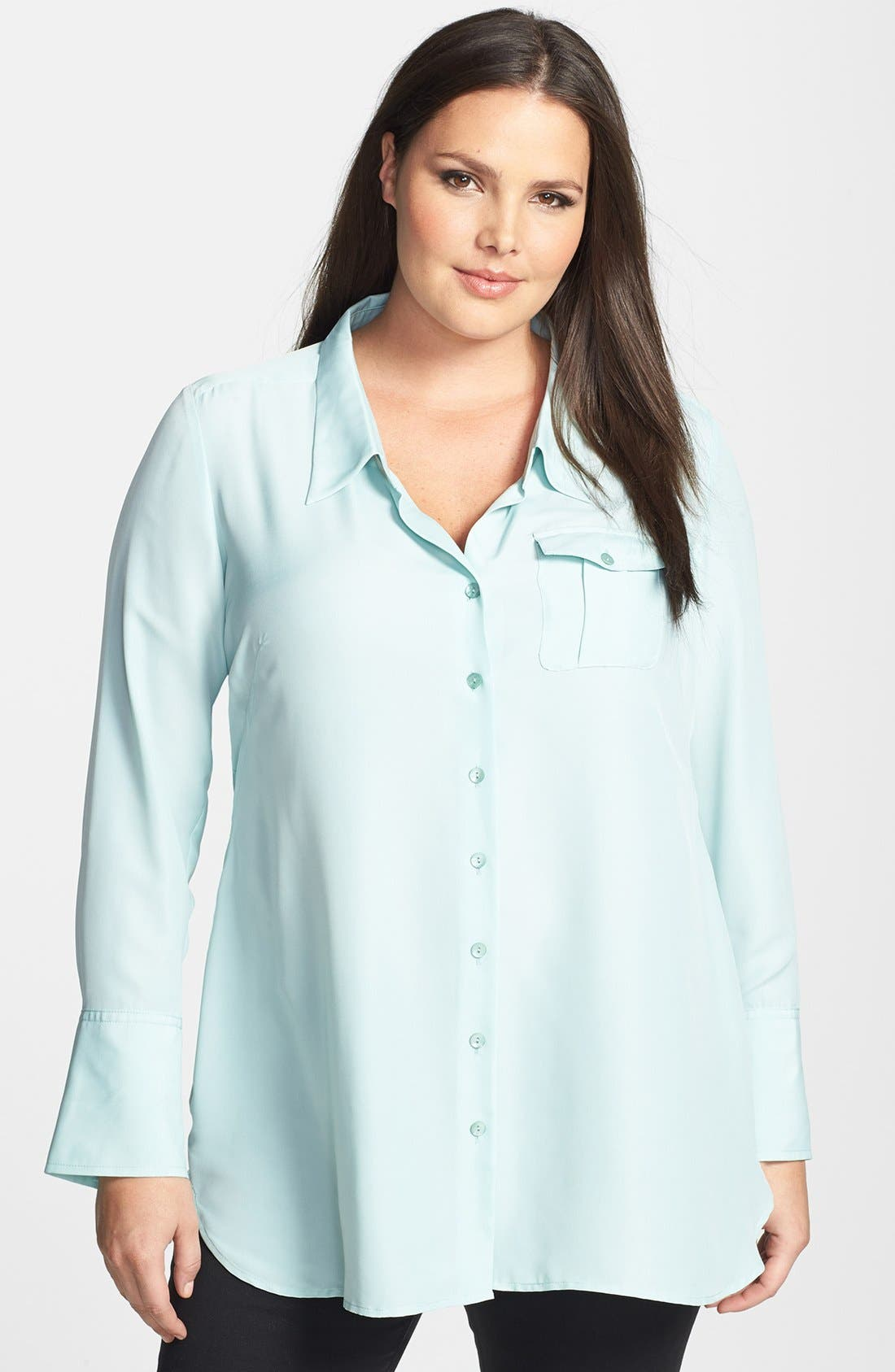 Alternate Image 1 Selected - NIC+ZOE 'Cool Mist' Shirt (Plus Size)