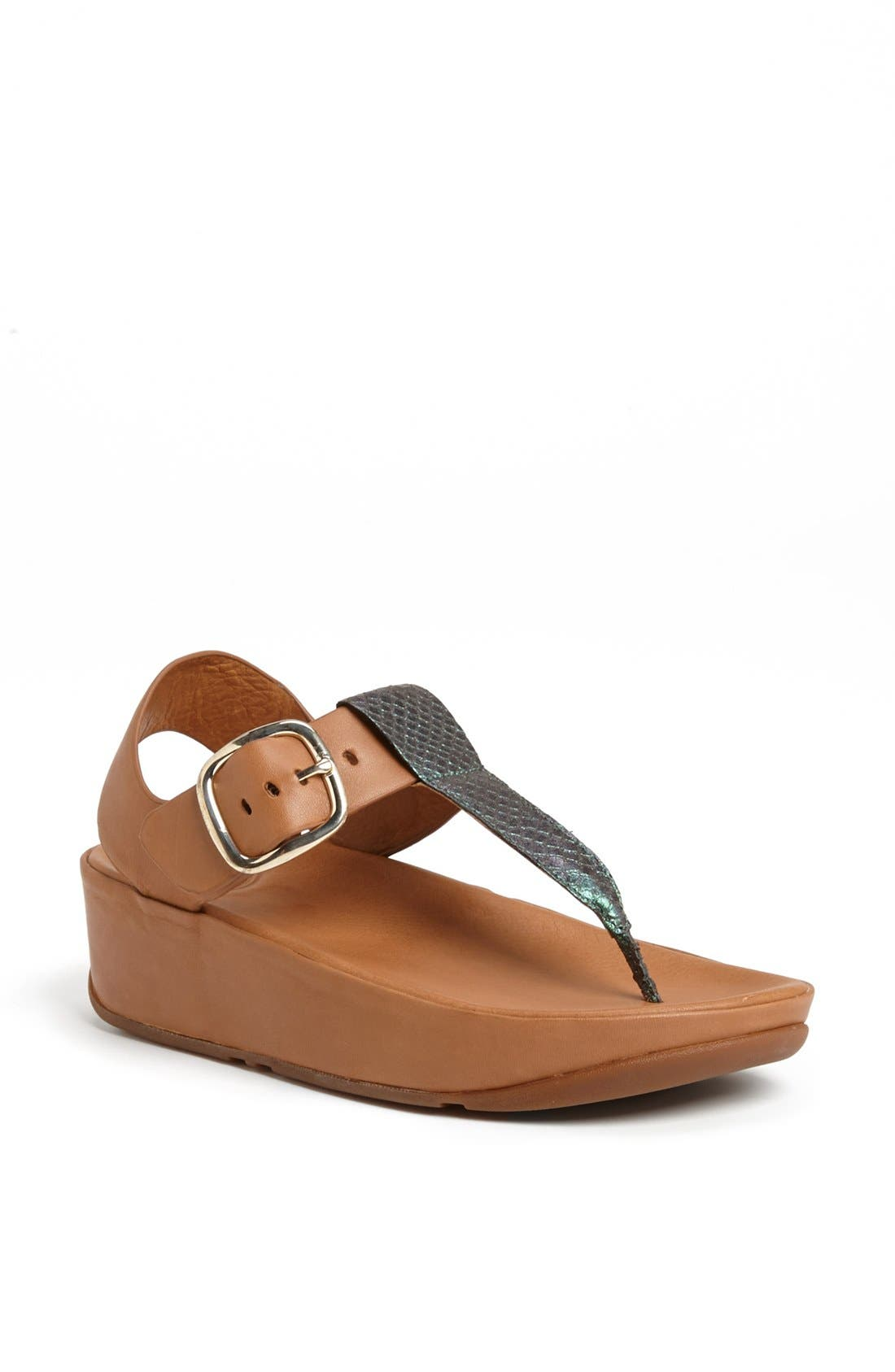 Alternate Image 1 Selected - FitFlop 'Tia™' Leather Sandal