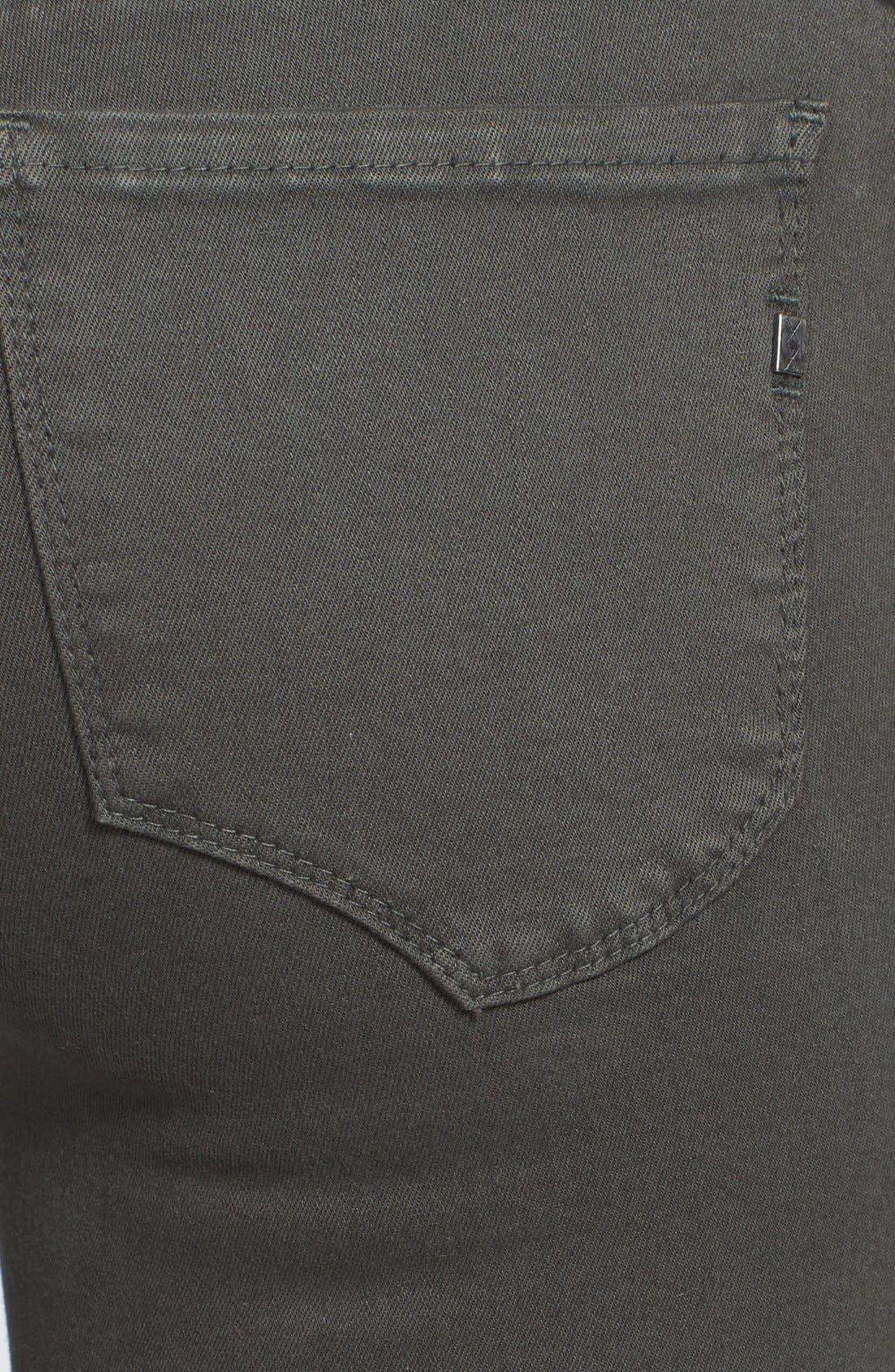 Alternate Image 3  - Genetic 'Sadie' Two-Tone Moto Skinny Jeans (Chrome)