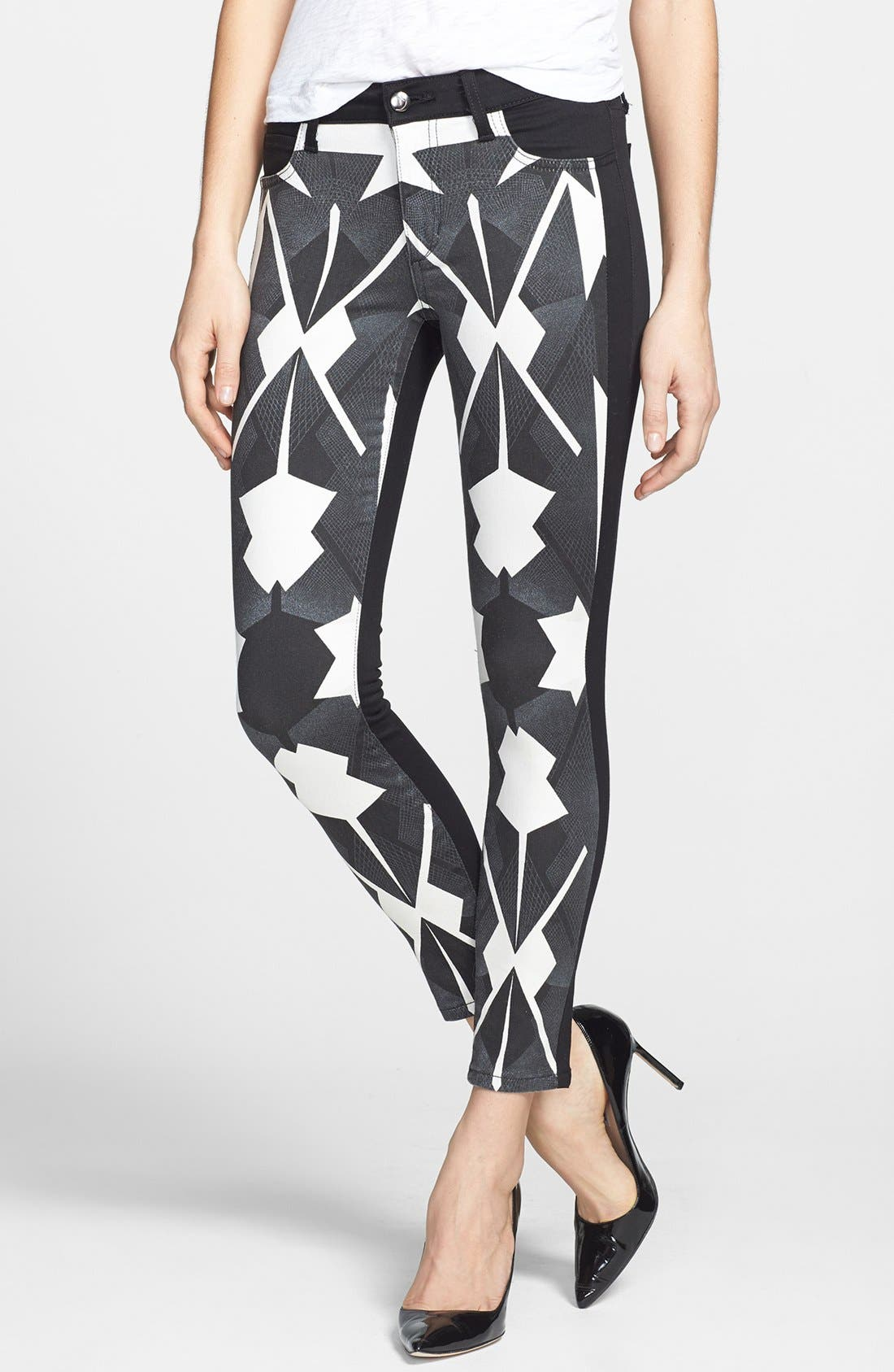 Alternate Image 1 Selected - Joe's Print Front Skinny Ankle Jeans (Matrix Print)