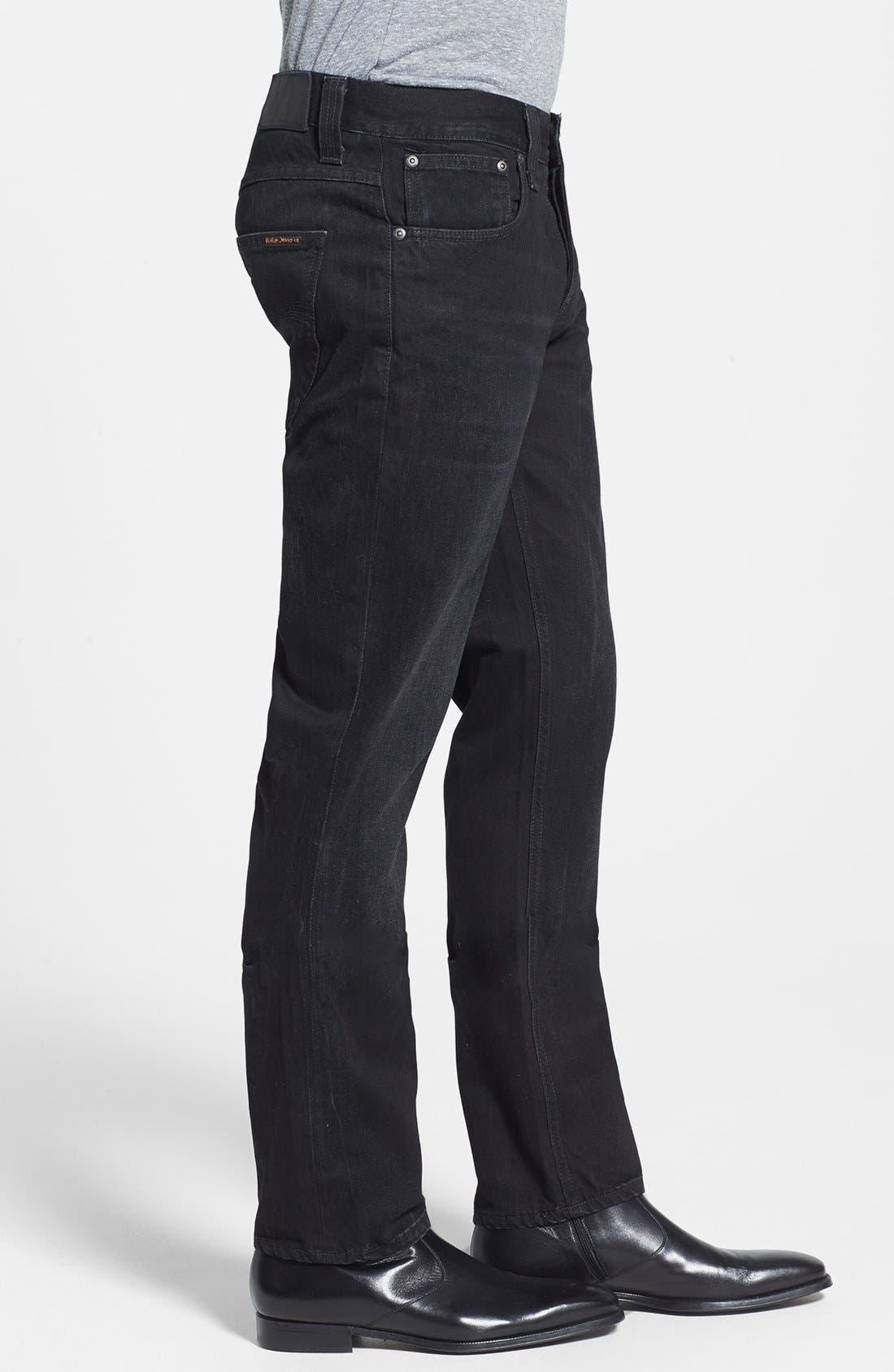 Alternate Image 3  - Nudie Jeans 'Grim Tim' Skinny Fit Jeans (Organic Black Grease)