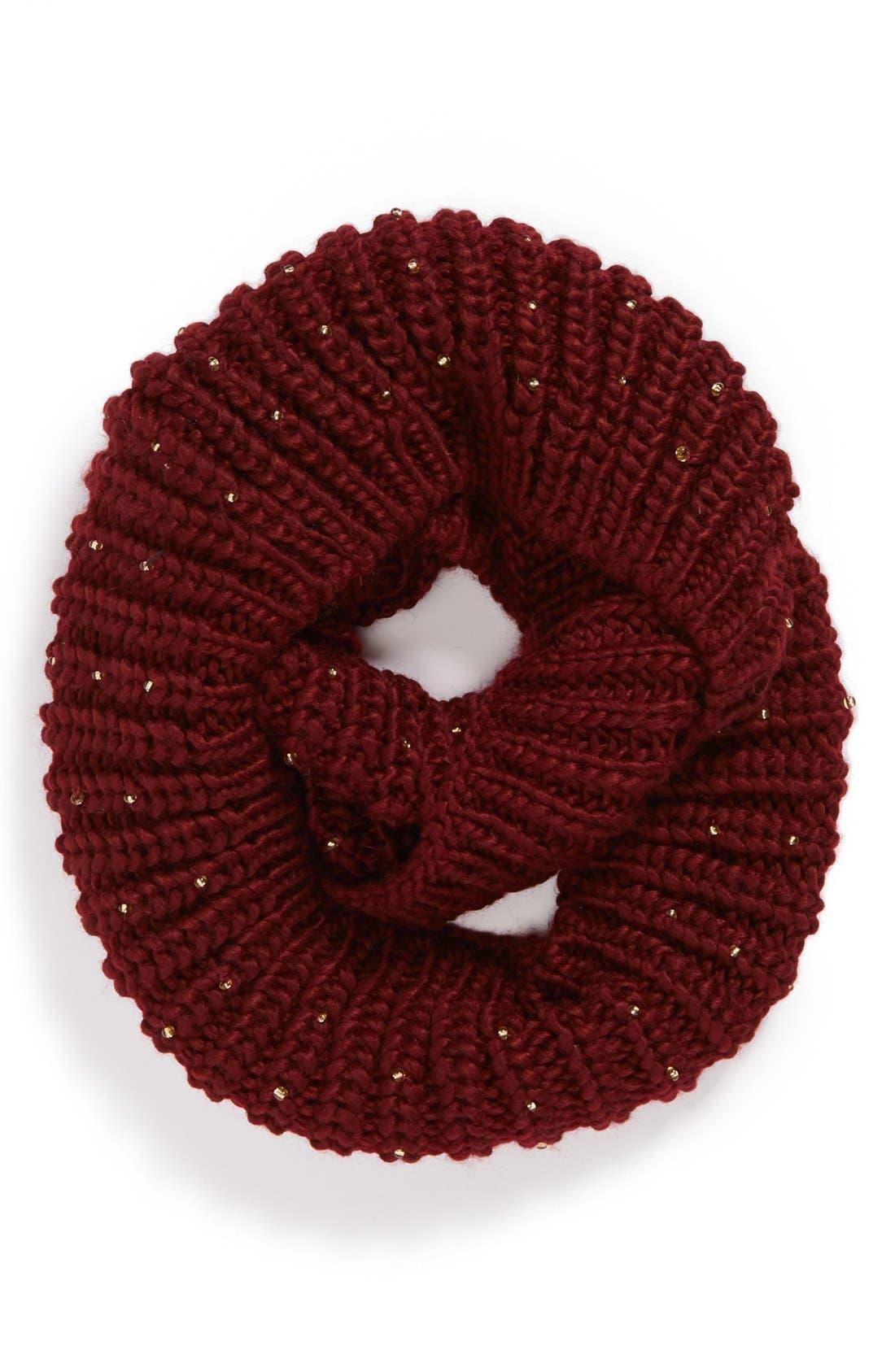 Alternate Image 1 Selected - San Diego Hat Beaded Infinity Scarf (Girls)