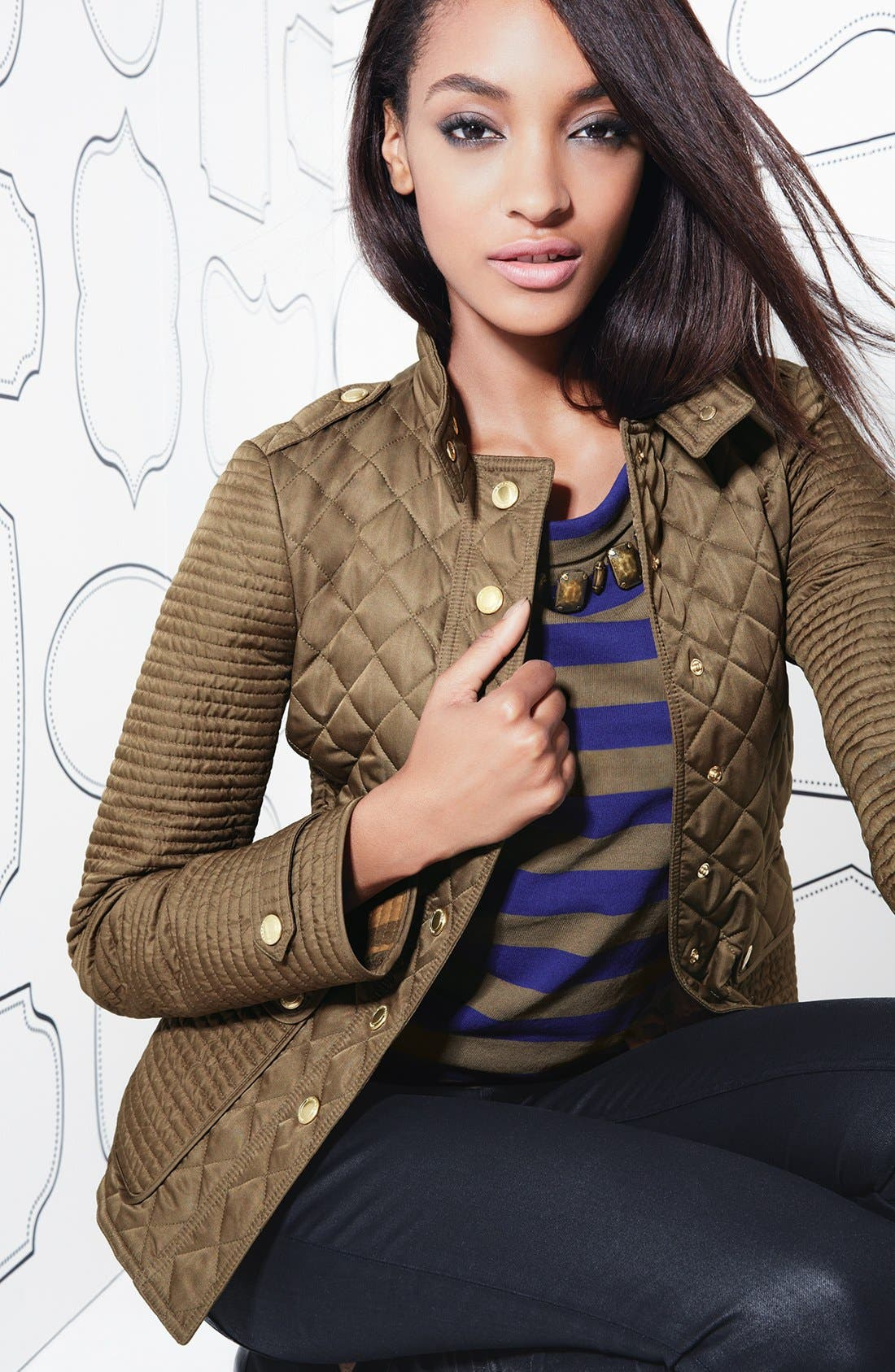 Alternate Image 4  - Burberry Brit 'Willsmoore' Quilted Snap Front Jacket