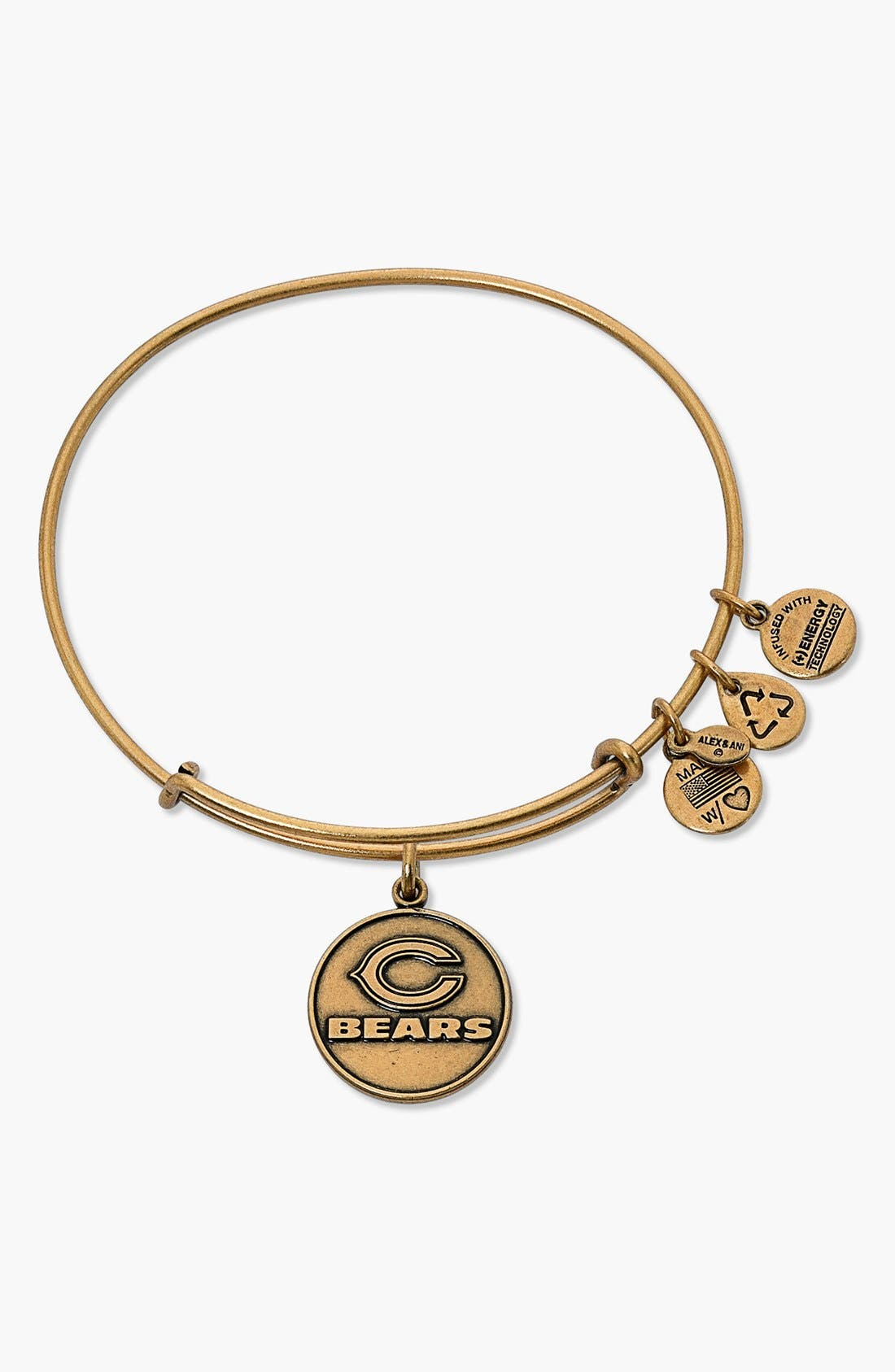 Alternate Image 1 Selected - Alex and Ani 'NFL - Chicago Bears' Adjustable Wire Bangle