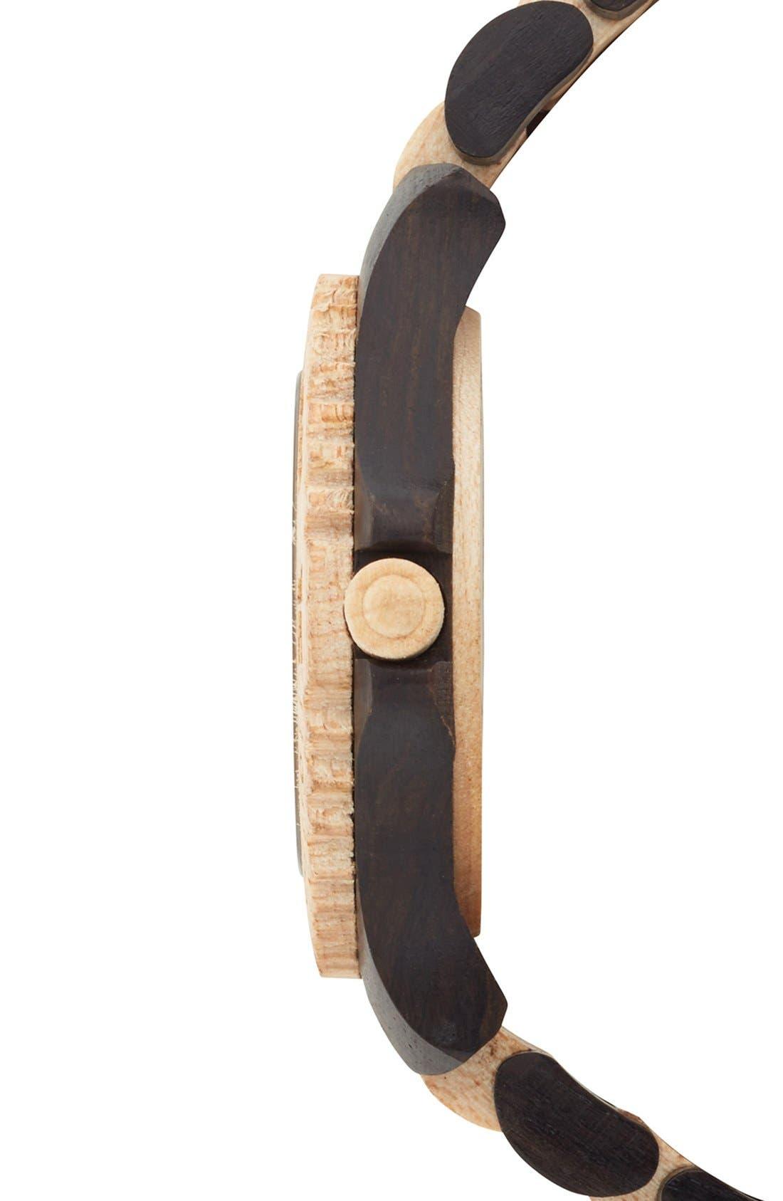 Alternate Image 3  - WeWOOD 'Date' Bracelet Watch, 40mm