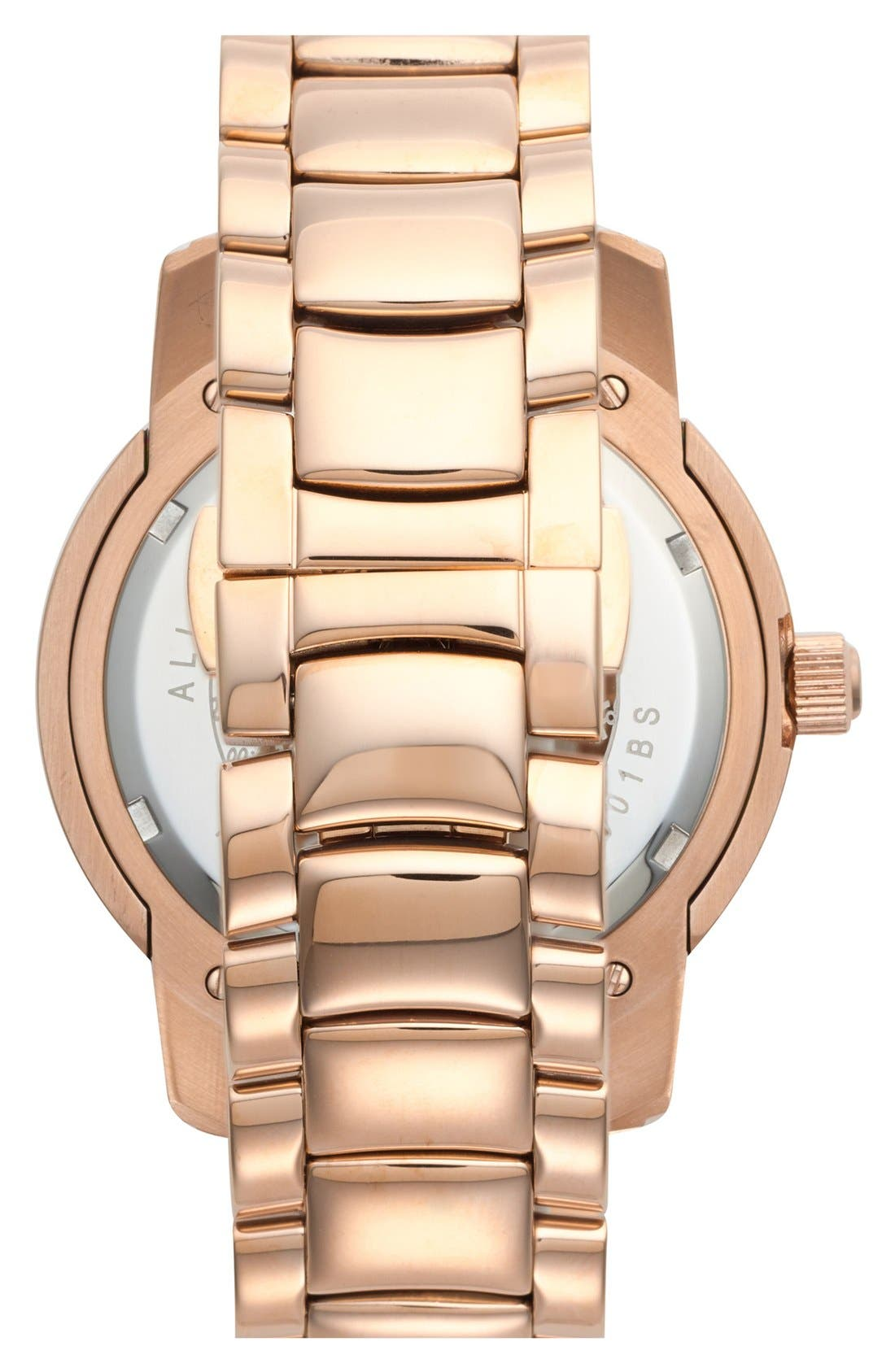 Alternate Image 2  - Folli Follie 'Urban Spin' Crystal Dial Bracelet Watch, 43mm