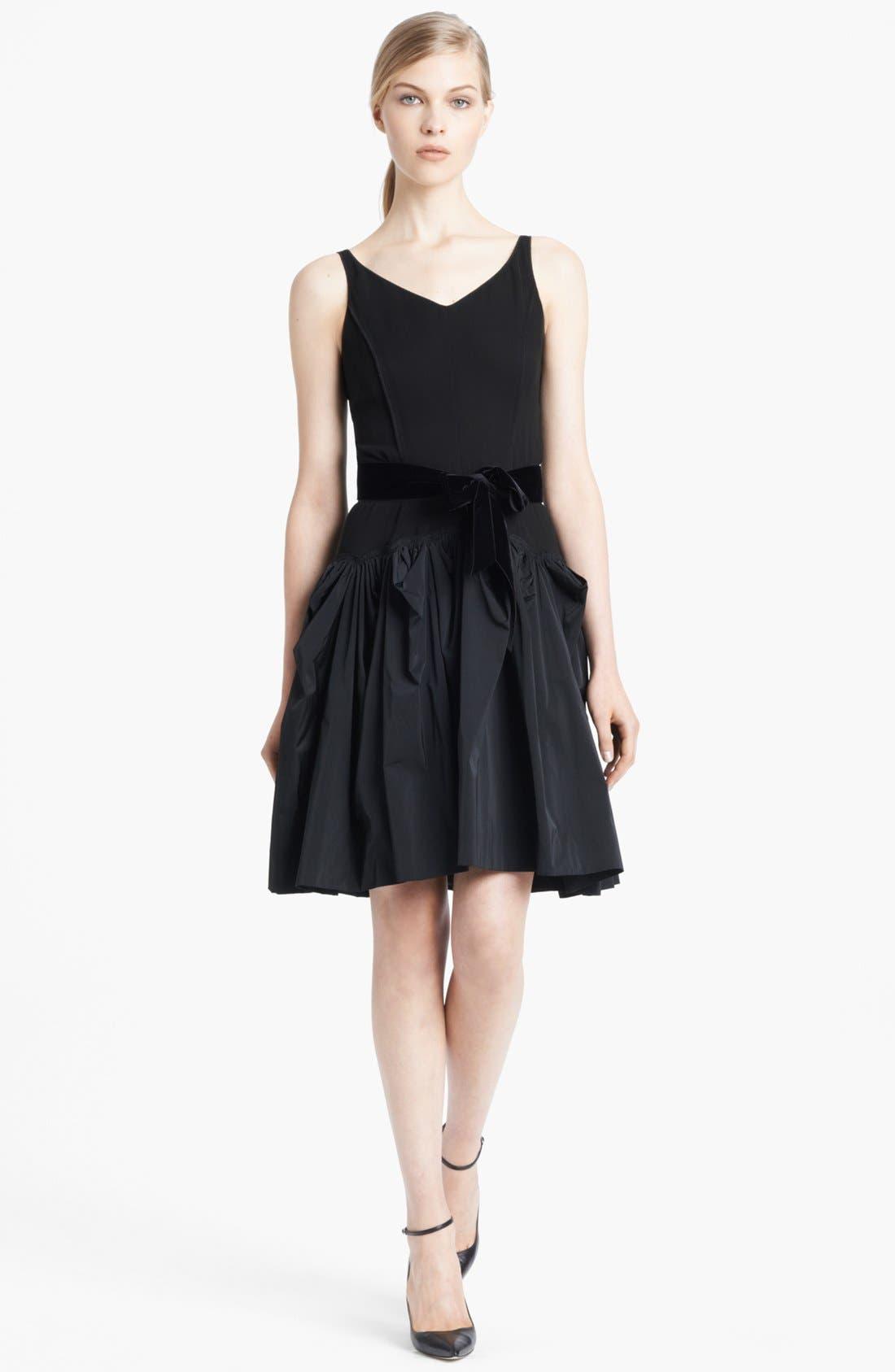 Alternate Image 1 Selected - Nina Ricci Belted Full Skirt Dress