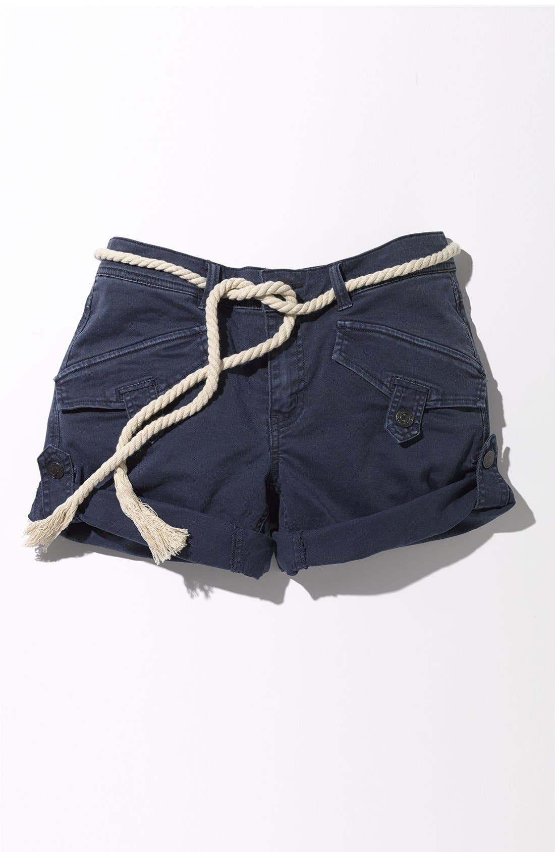 Alternate Image 4  - Free People 'Nautical' Rope Belted Cuffed Shorts