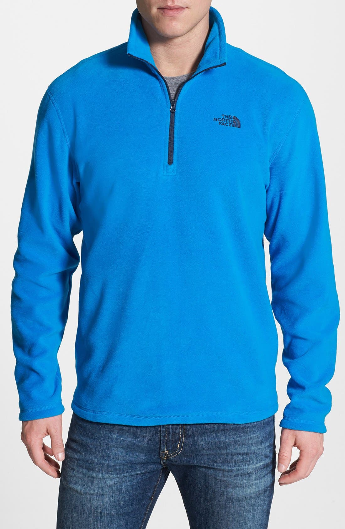 Alternate Image 1 Selected - The North Face 'TKA 100 Microvelour Glacier' Quarter Zip Fleece Pullover