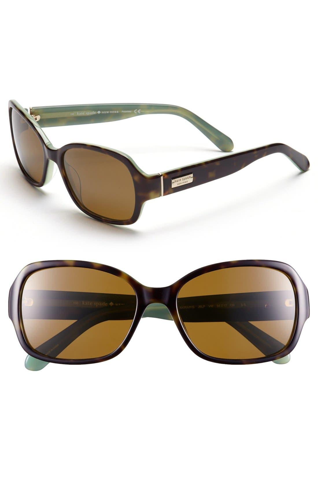 Alternate Image 1 Selected - kate spade new york 'akira' 54mm polarized sunglasses