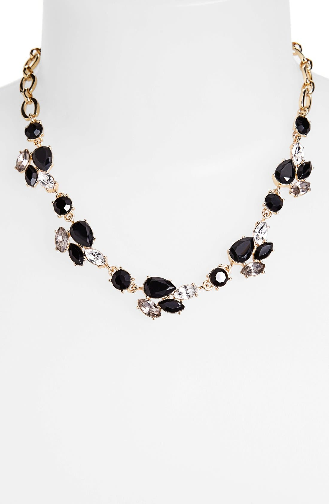 Alternate Image 1 Selected - Anne Klein Stone & Link Collar Necklace