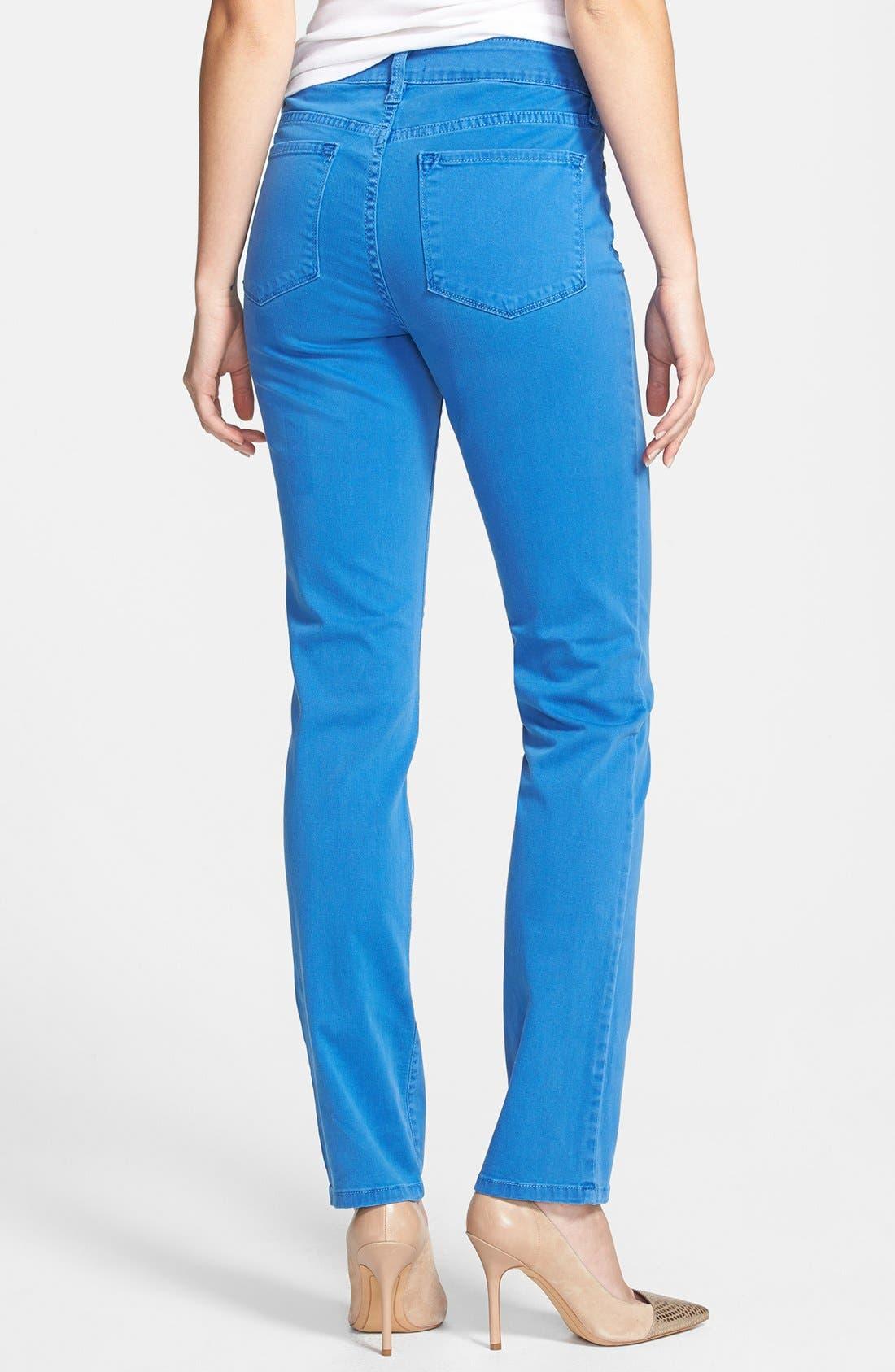 Alternate Image 2  - NYDJ 'Sheri' Colored Stretch Denim Skinny Jeans