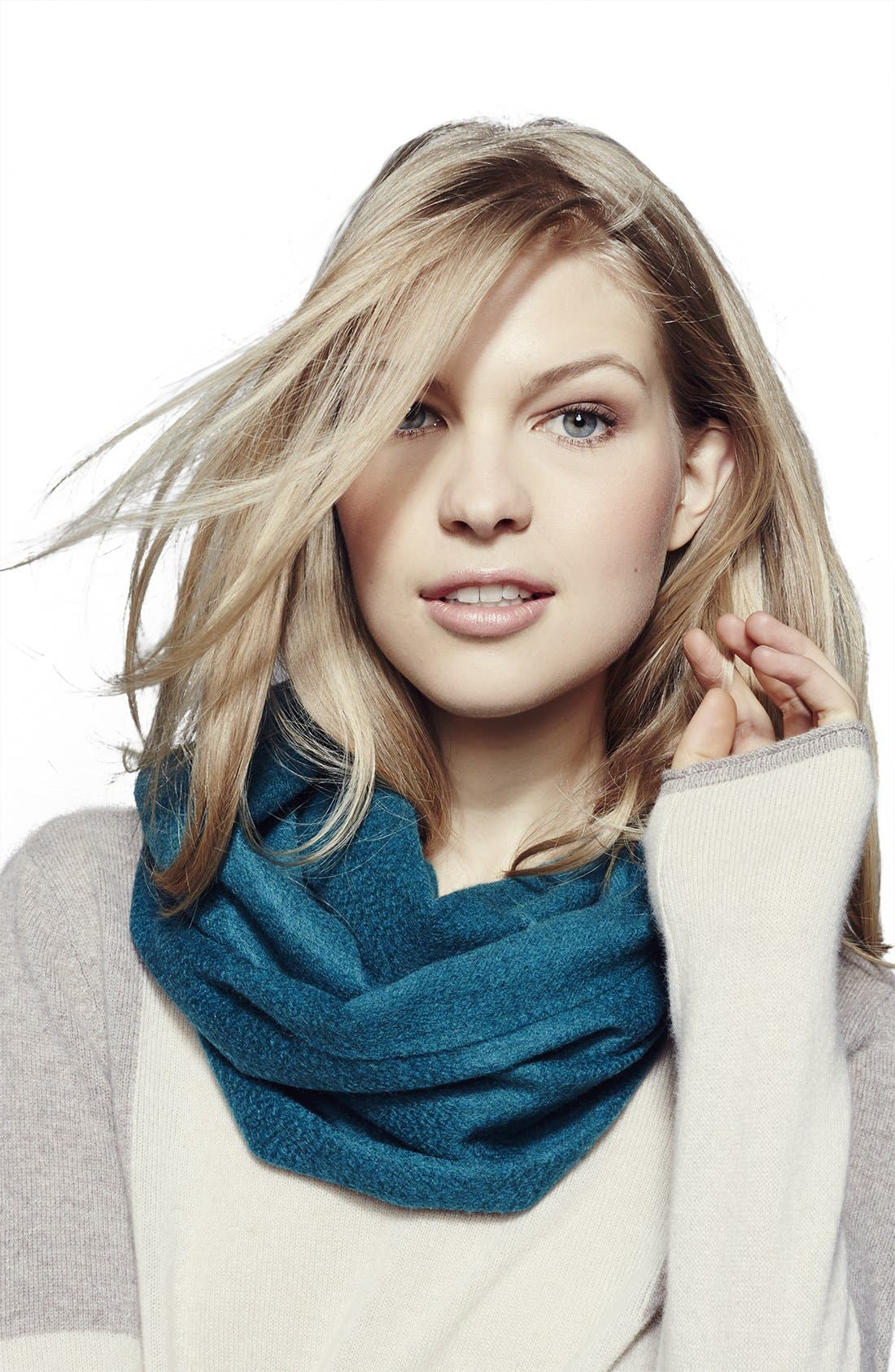 Alternate Image 3  - Nordstrom Colorblock Woven Cashmere Scarf