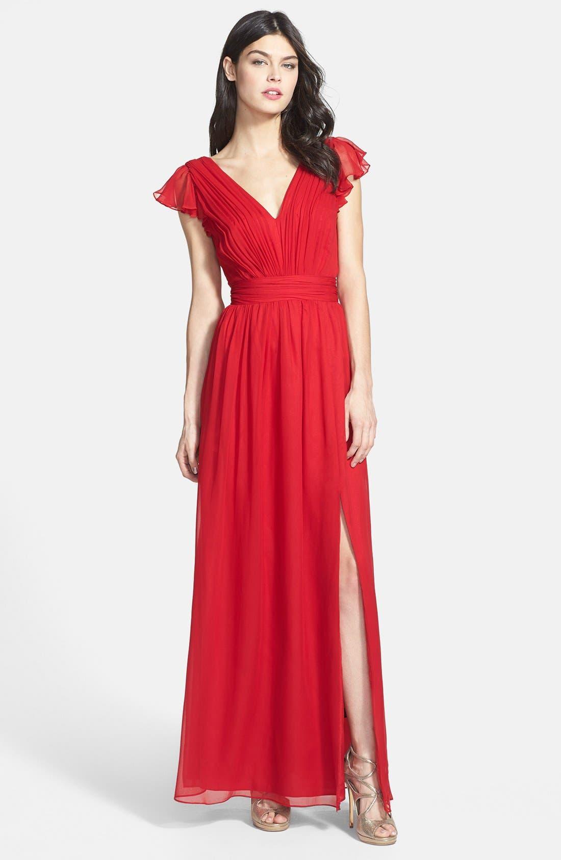 Alternate Image 1 Selected - Jill Jill Stuart Silk Chiffon Dress