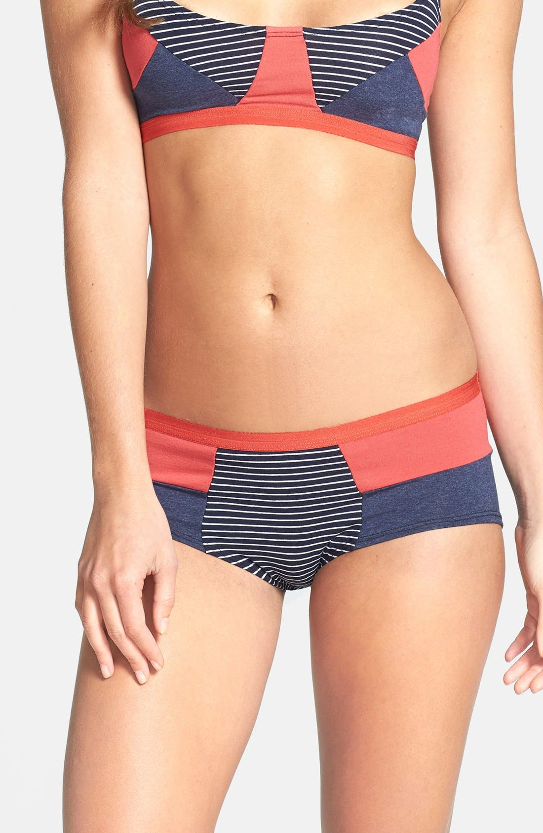 Alternate Image 1 Selected - Only Hearts 'So Fine' Patchwork Hipster Briefs