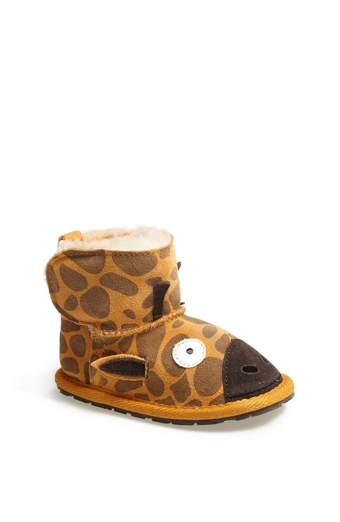 Alternate Image 1 Selected - EMU Australia 'Little Creatures - Giraffe' Boot (Baby & Walker)