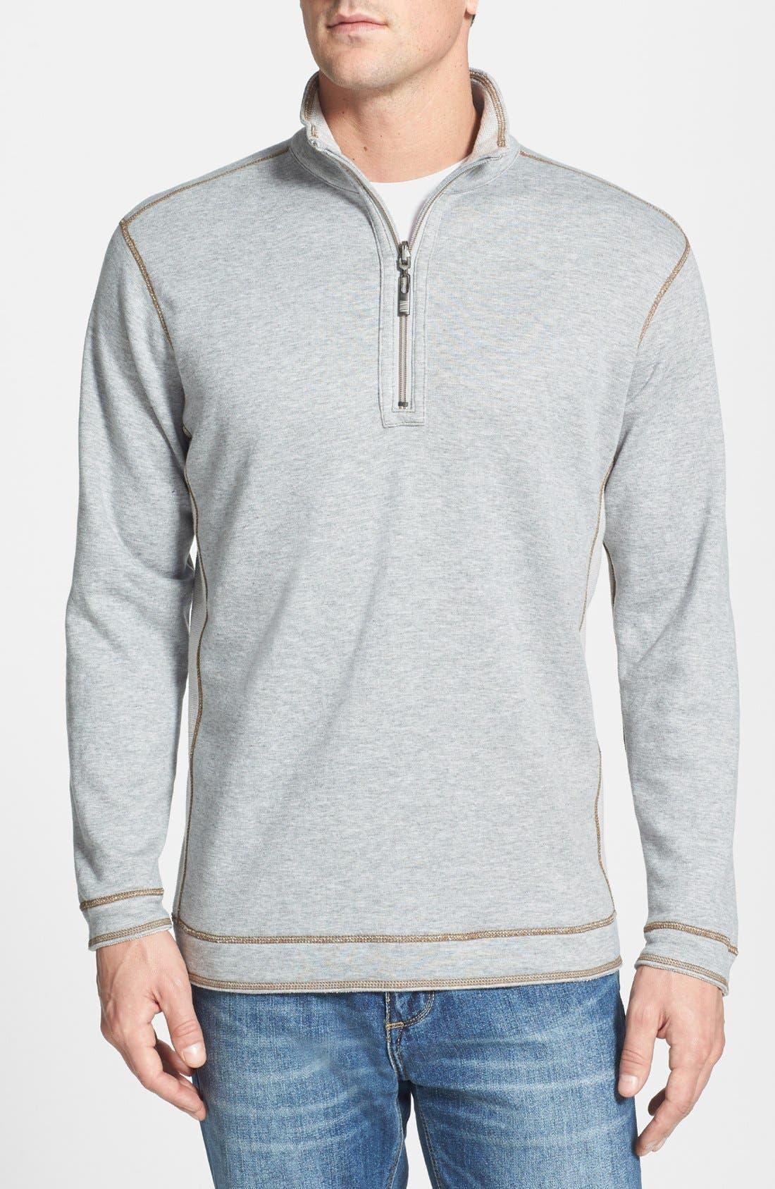Alternate Image 2  - Tommy Bahama Denim 'Grand Isles' Reversible Half Zip Sweatshirt