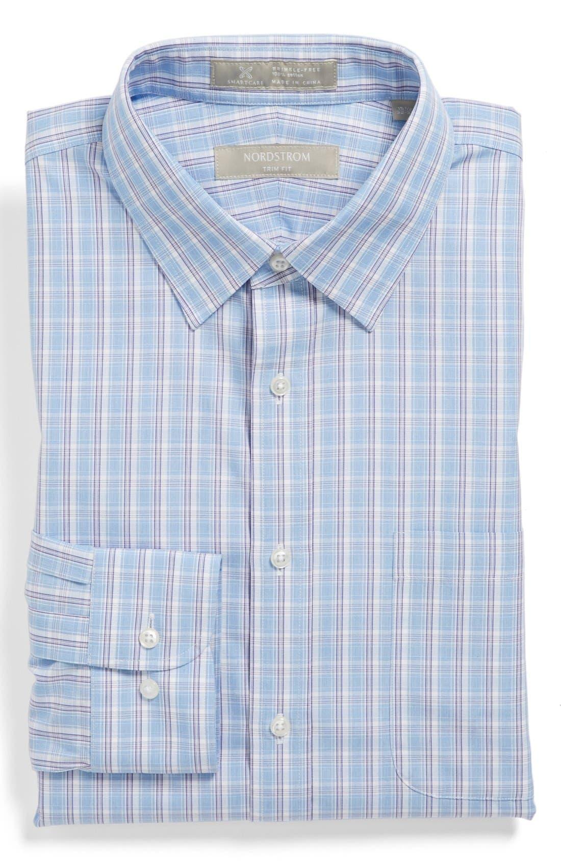 Main Image - Nordstrom Smartcare™ Wrinkle Free Trim Fit Dress Shirt