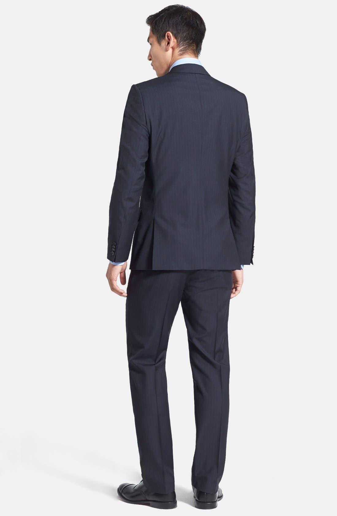 Alternate Image 2  - HUGO 'Amaro/Heise' Trim Fit Wool Blend Suit