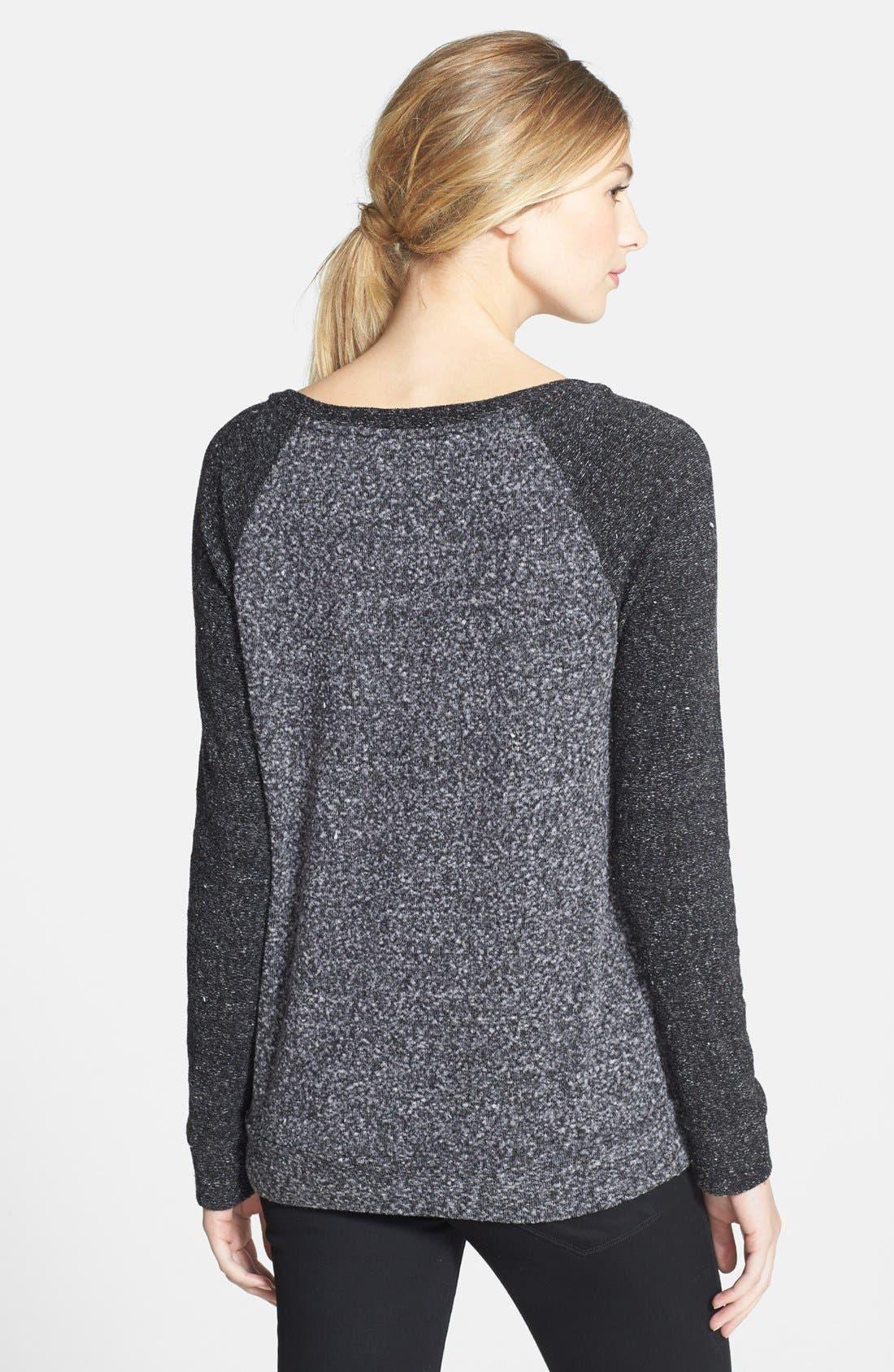 Alternate Image 2  - Halogen® Raglan Sleeve Mélange Knit Top (Regular & Petite)