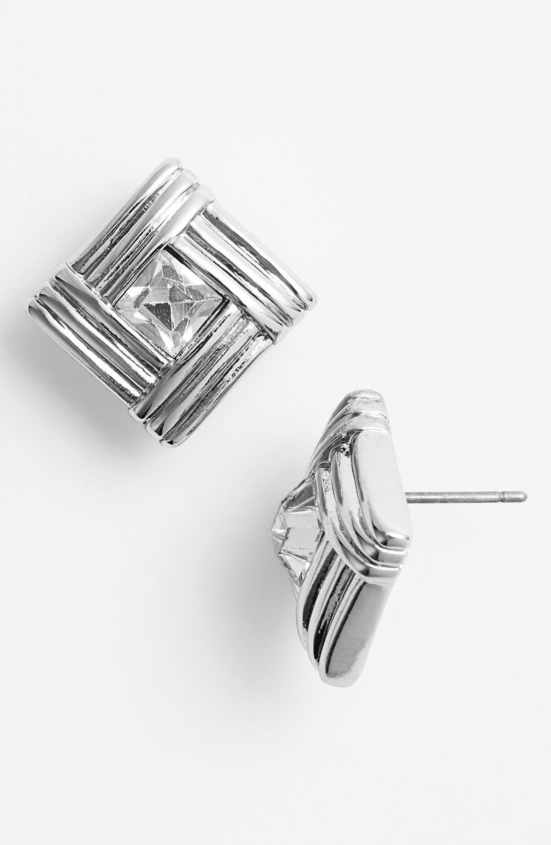 Alternate Image 1 Selected - Anne Klein Square Stud Earrings
