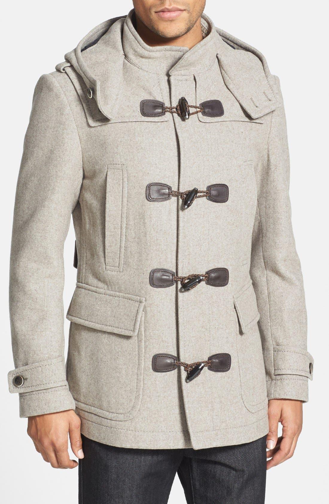 Main Image - BOSS HUGO BOSS 'Capez' Wool Blend Duffle Coat