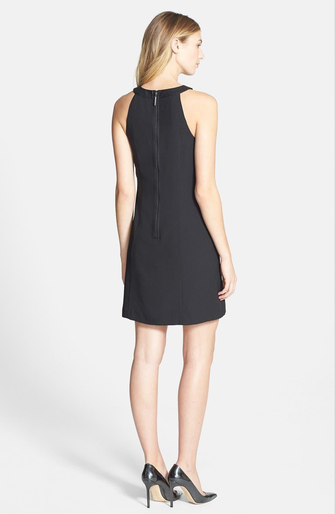 Alternate Image 2  - kensie Lace Detail Crepe Dress