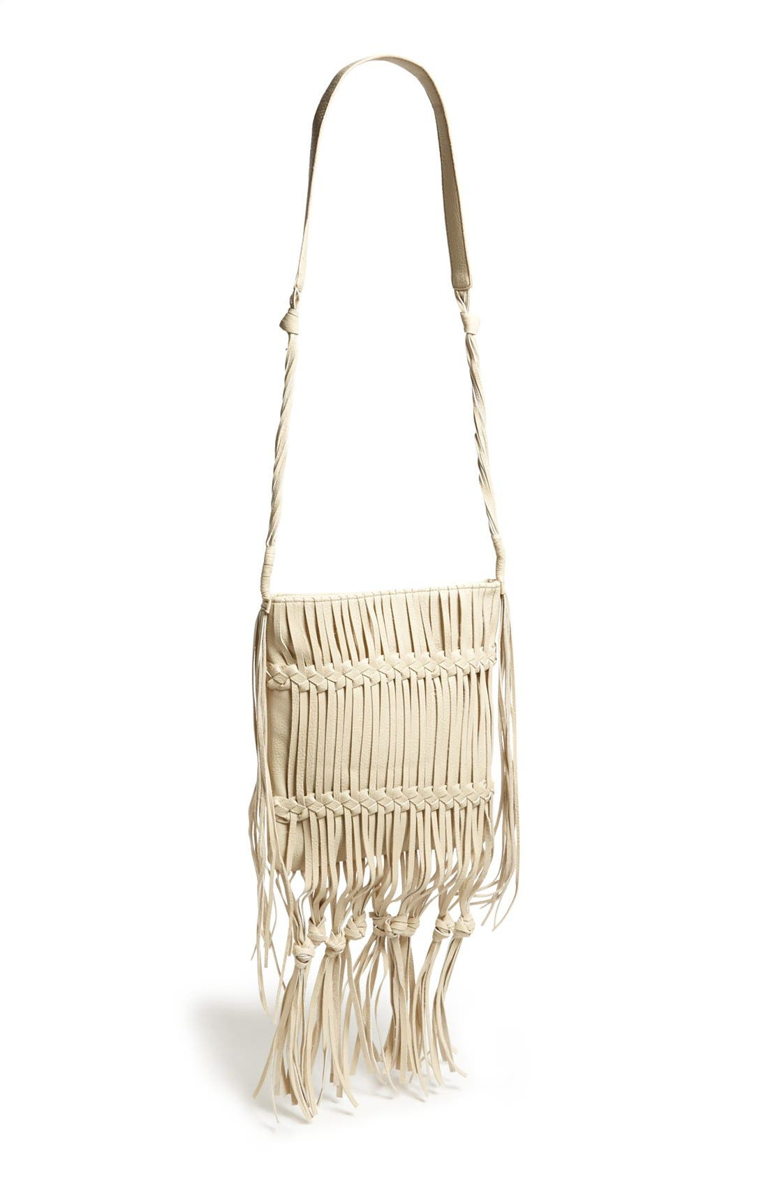 Main Image - LP Blue Boho Fringed Shoulder Bag
