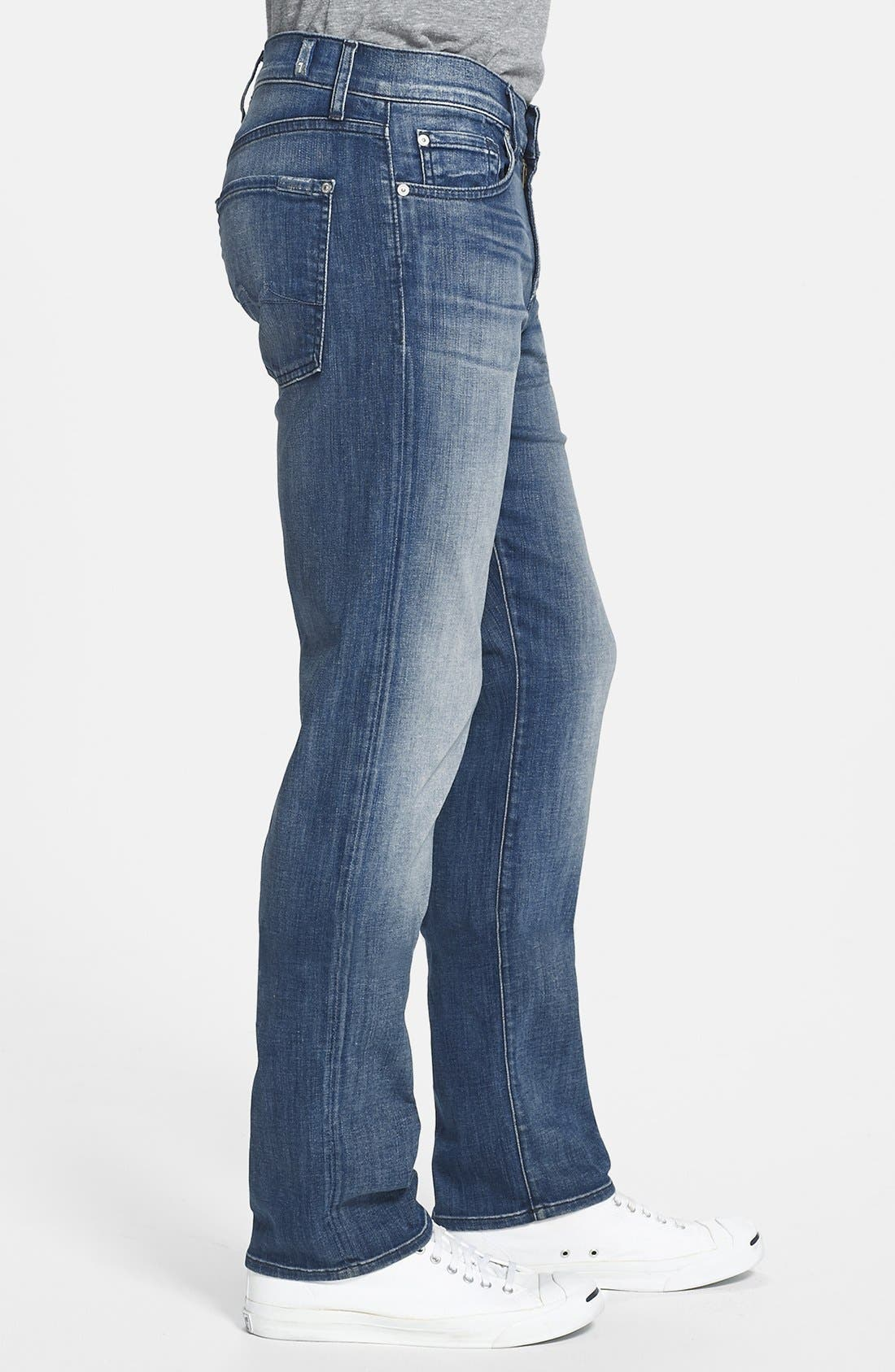 Alternate Image 3  - 7 For All Mankind® 'Slimmy - Luxe Performance' Slim Fit Jeans (Nakitta Blue)